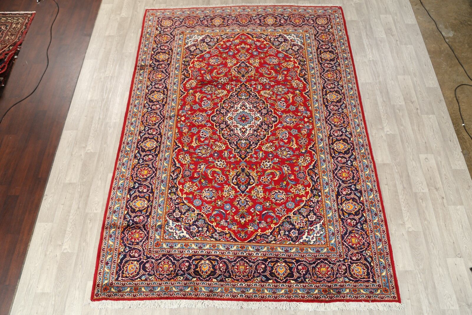 One-of-a-Kind Kashan Persian Classical Vintage Hand-Knotted 8'2