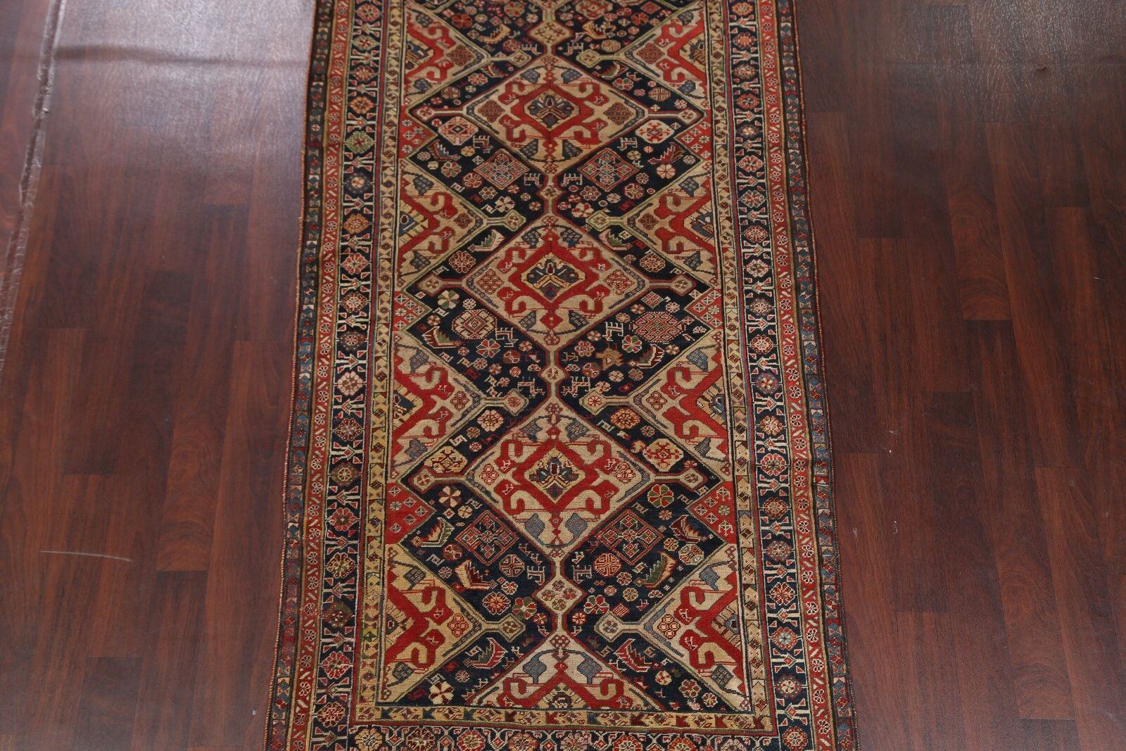 One-of-a-Kind Wagnon Russian Oriental Hand-Knotted Wool Red Area Rug