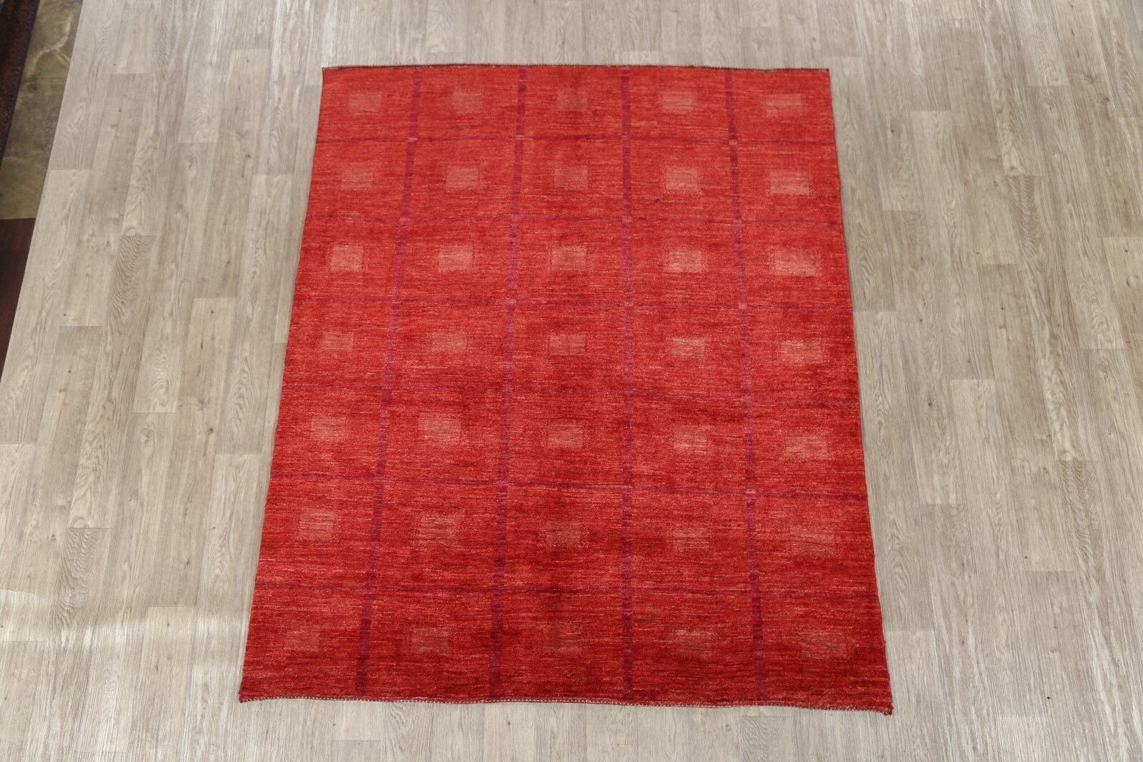 One-of-a-Kind Gabbeh Zolanvari Traditional Persian Modern Hand-Knotted 5'11