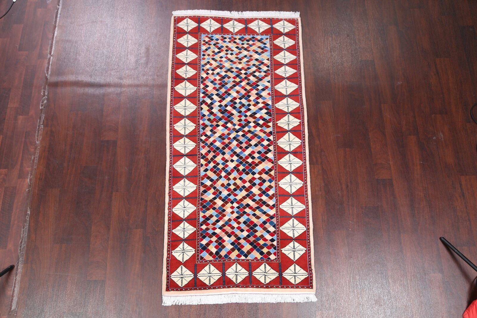 One-of-a-Kind Duley Traditional Kashmar Persian Hand-Knotted 3'5