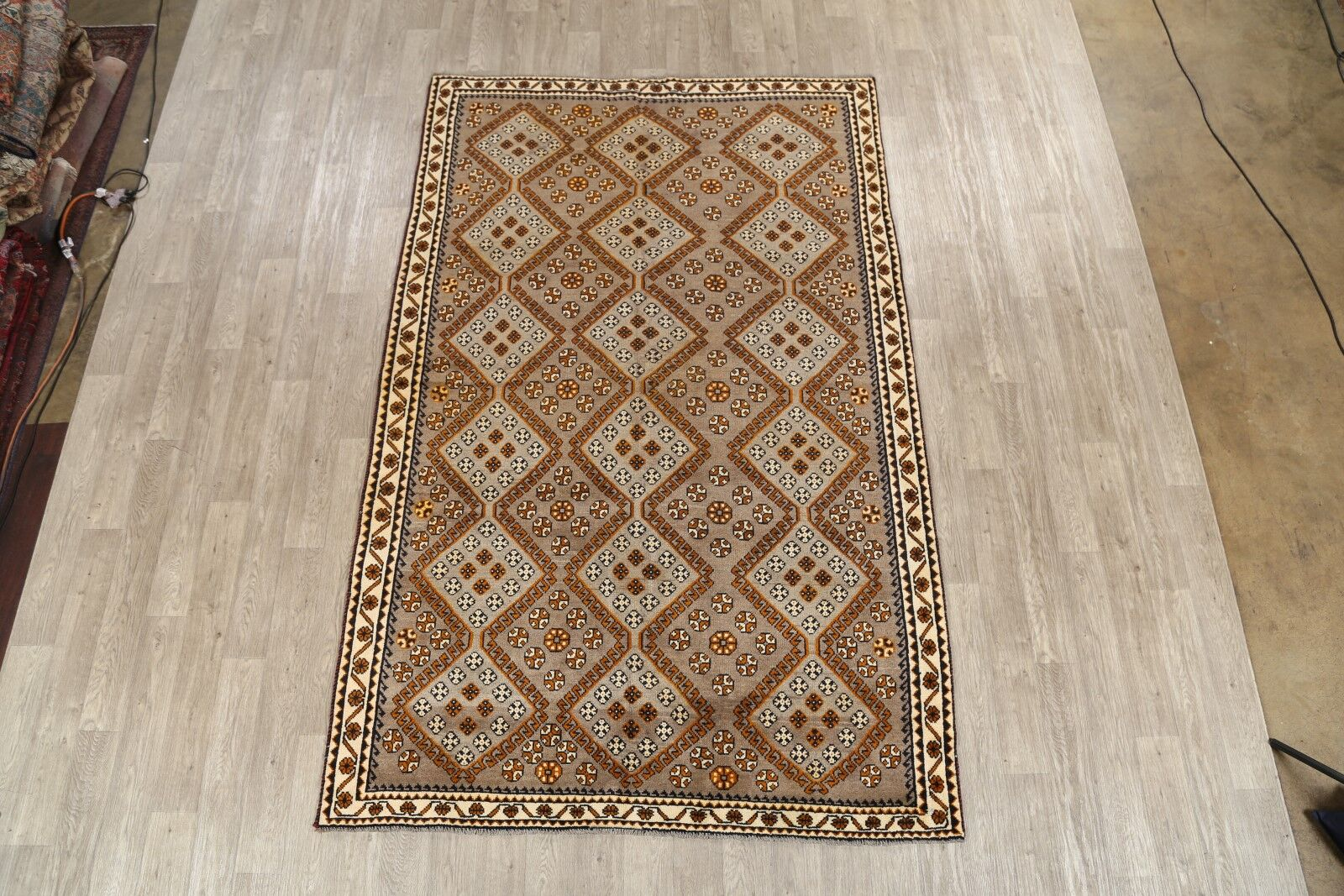 One-of-a-Kind Freed Gabbeh Shiraz Vintage Persian Hand-Knotted 6'3