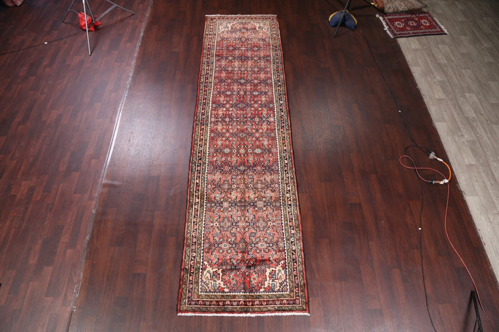 One-of-a-Kind Vintage Hamedan Palace Persian Traditional Hand-Knotted 3'8
