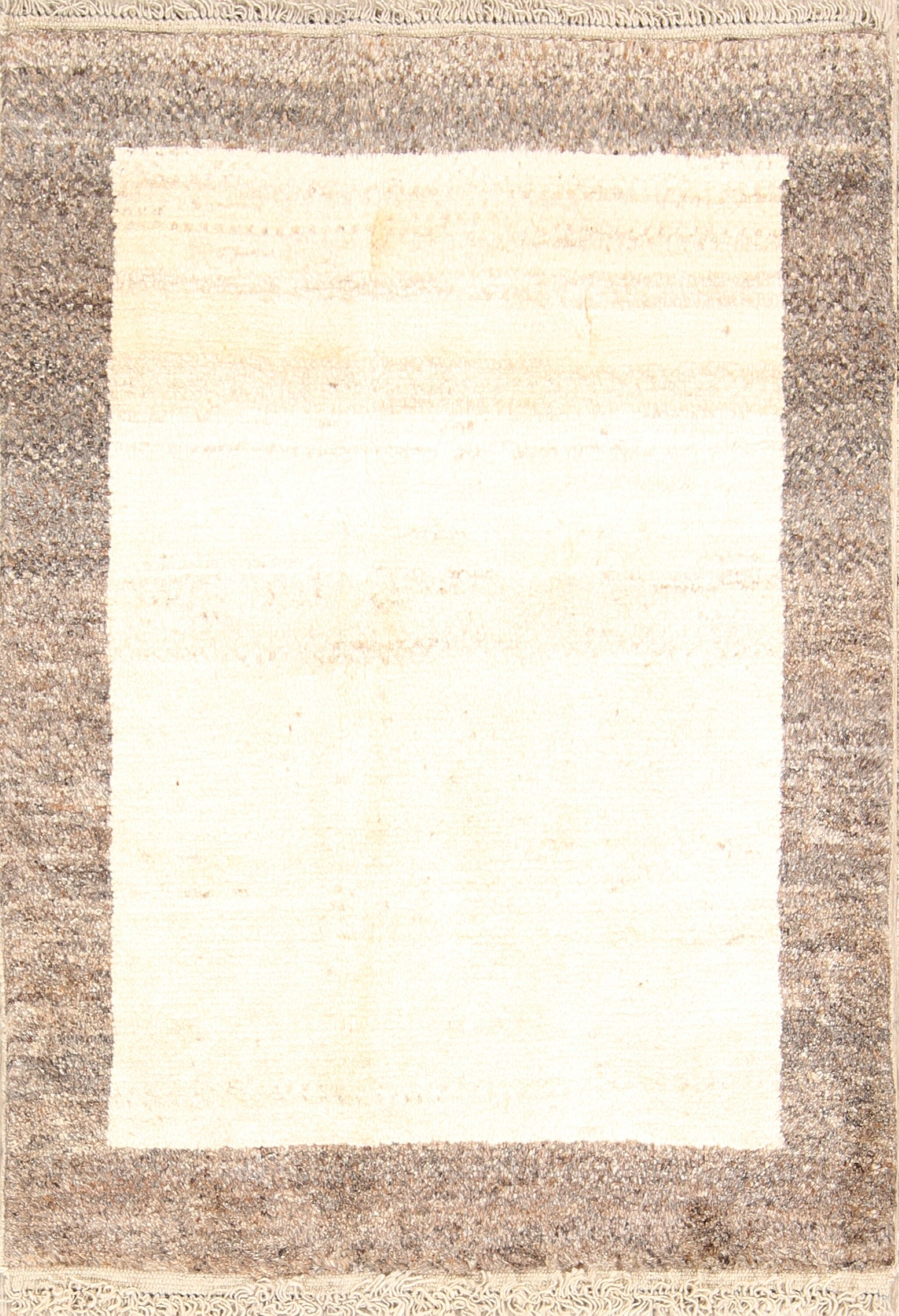 One-of-a-Kind Gabbeh Shiraz Persian Modern Hand-Knotted 2'8