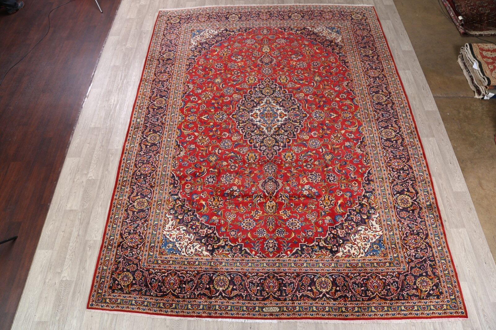 One-of-a-Kind Kashan Persian Hand-Knotted 10'2