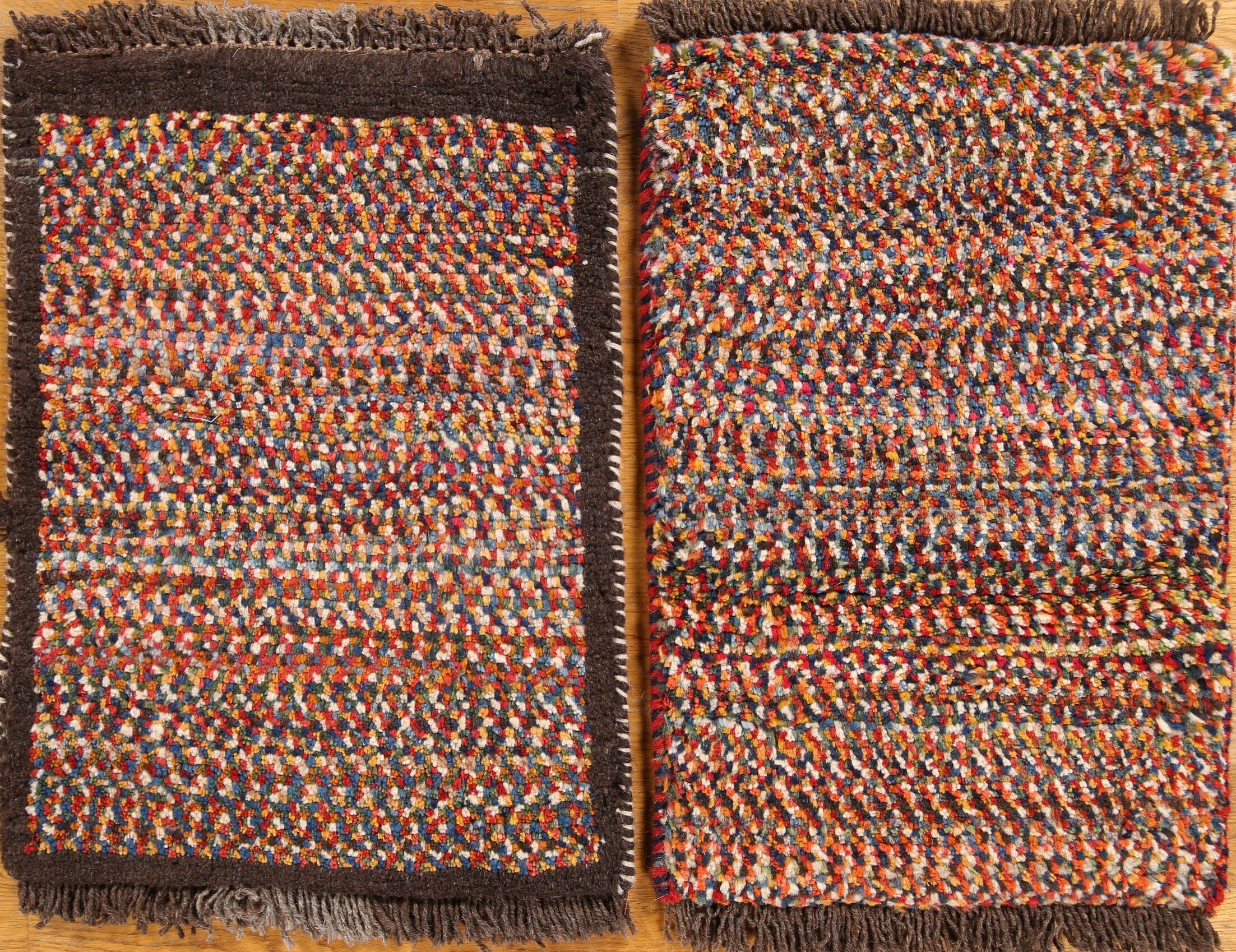 One-of-a-Kind Shiraz Gabbeh Persian Hand-Knotted 1'4