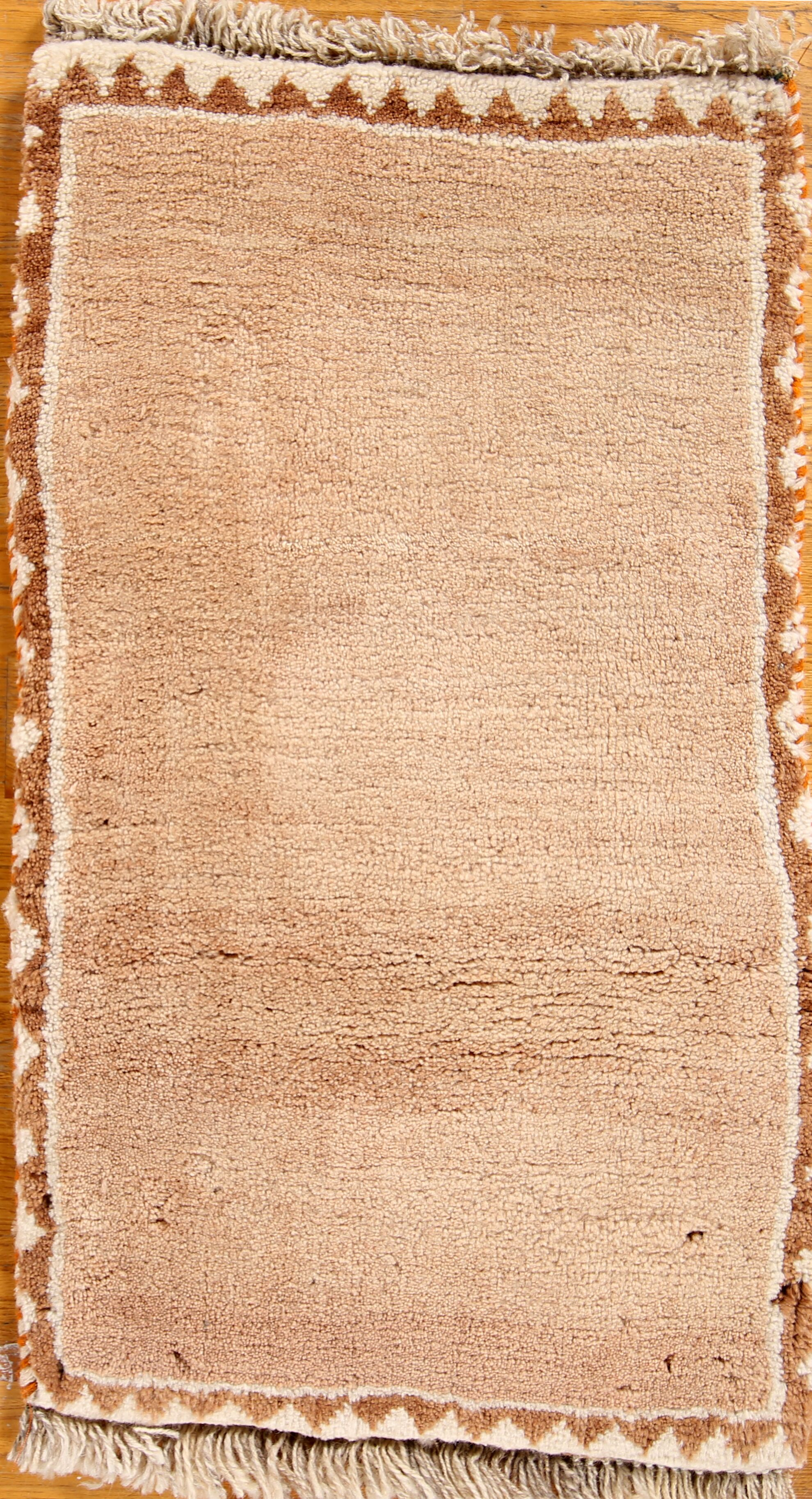 One-of-a-Kind Modern Traditional Gabbeh Persian Oriental Hand-Knotted 1'6