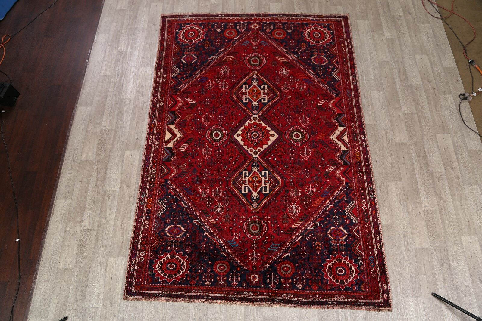 One-of-a-Kind Shiraz Qashqai Vintage Persian Hand-Knotted 7' x 10'4