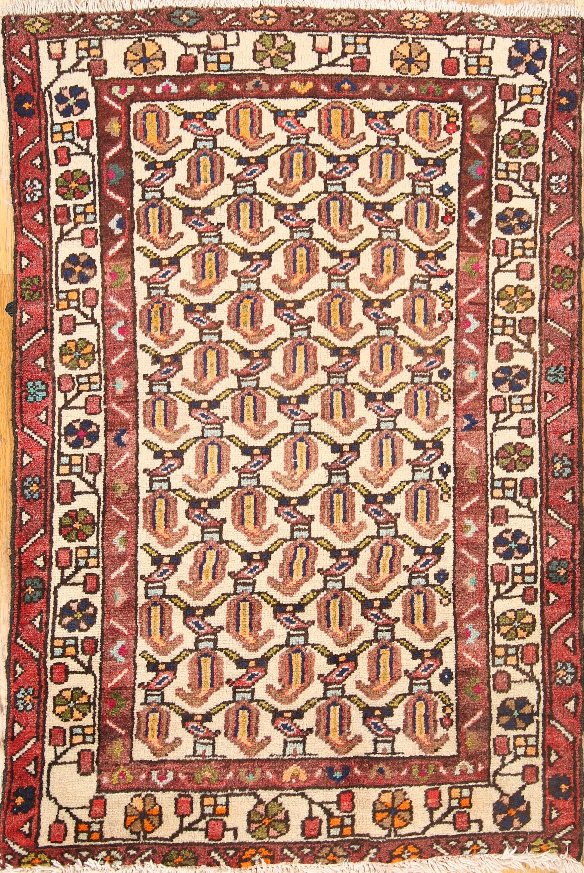 One-of-a-Kind Malayer Hamedan Vintage Persian Traditional Hand-Knotted 2'5