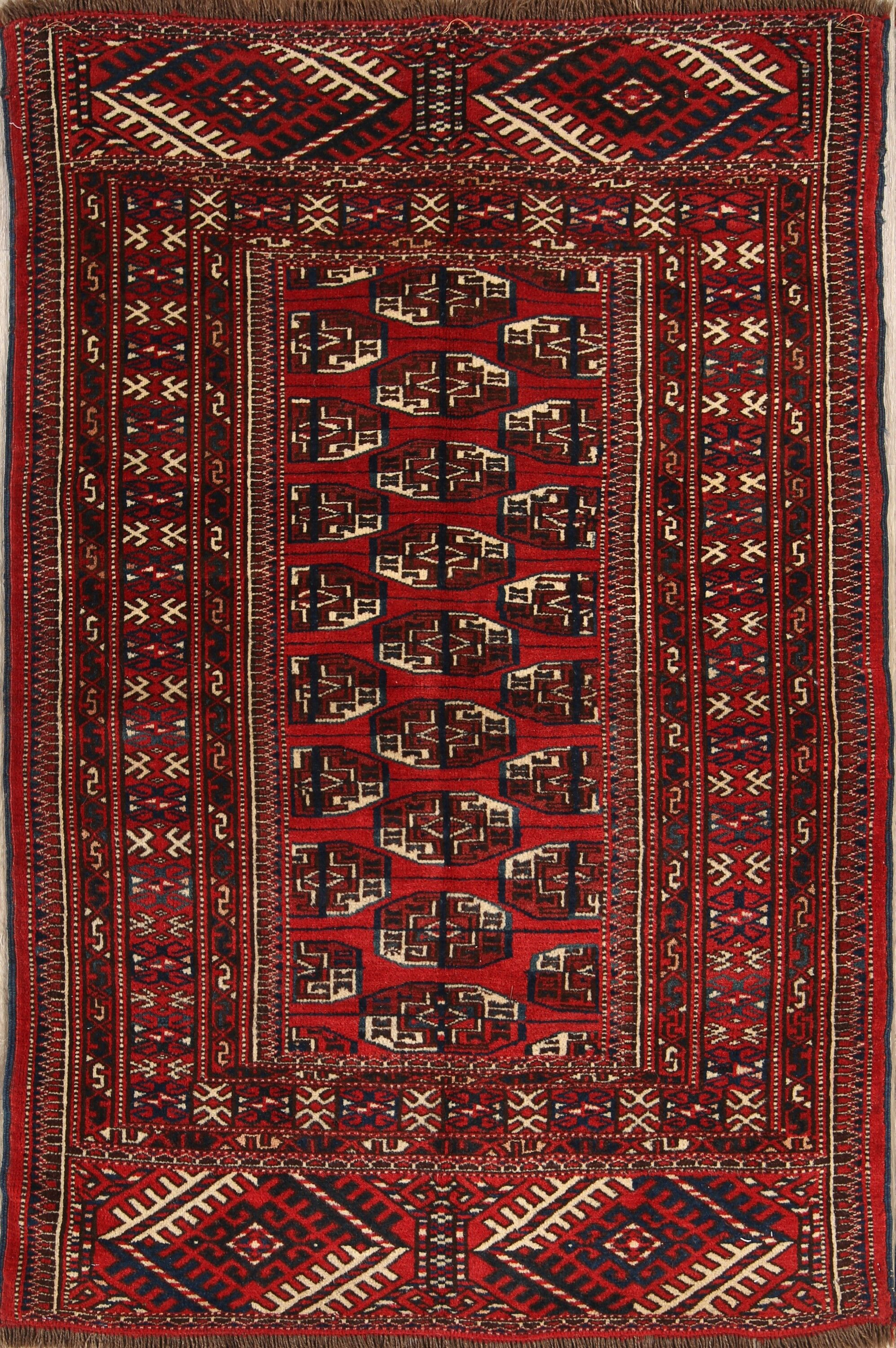 One-of-a-Kind Classical Balouch Bokhara Persian Hand-Knotted 3'4