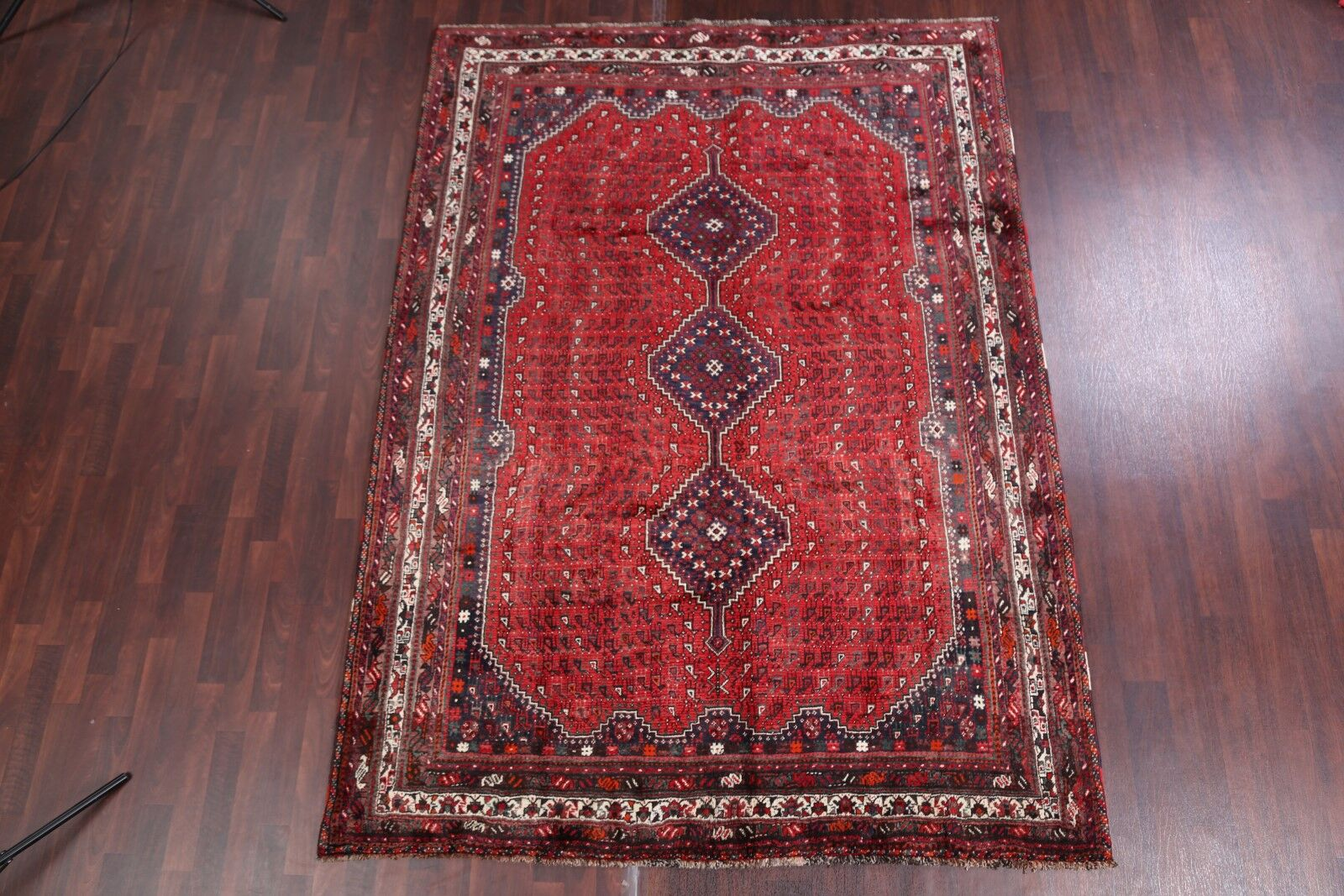 One-of-a-Kind Marmolejo Shiraz Vintage Persian Hand-Knotted 6' x 9'5