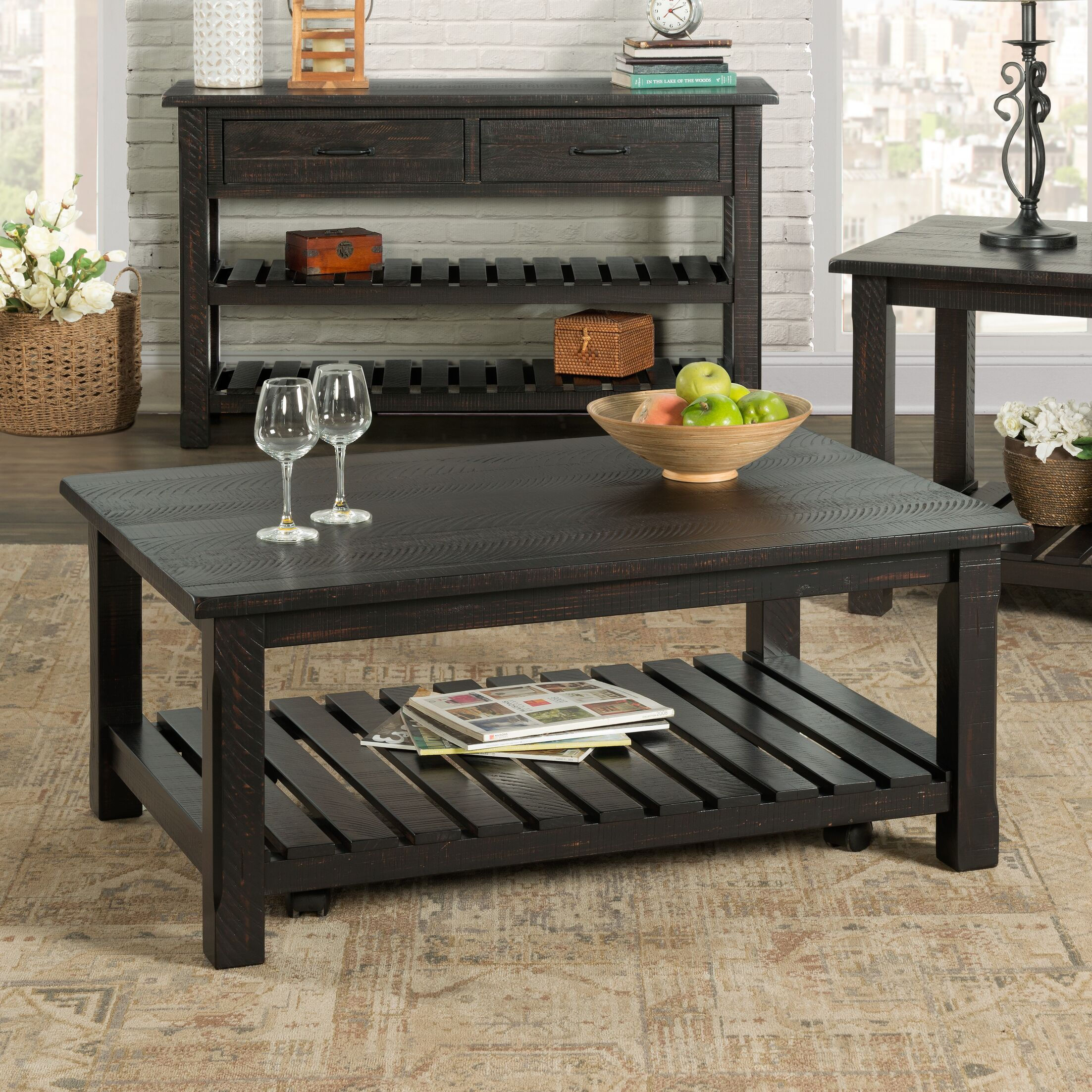 Benefield Coffee Table Color: Antique Black