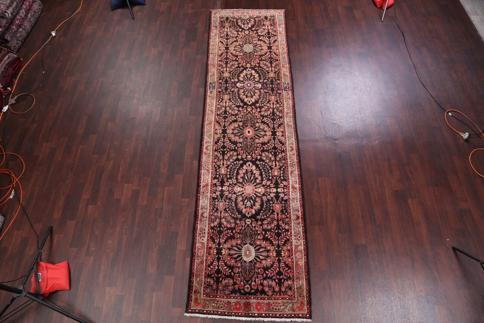 One-of-a-Kind Gandy Lilian Hamedan Vintage Traditional Persian Hand-Knotted 3'5