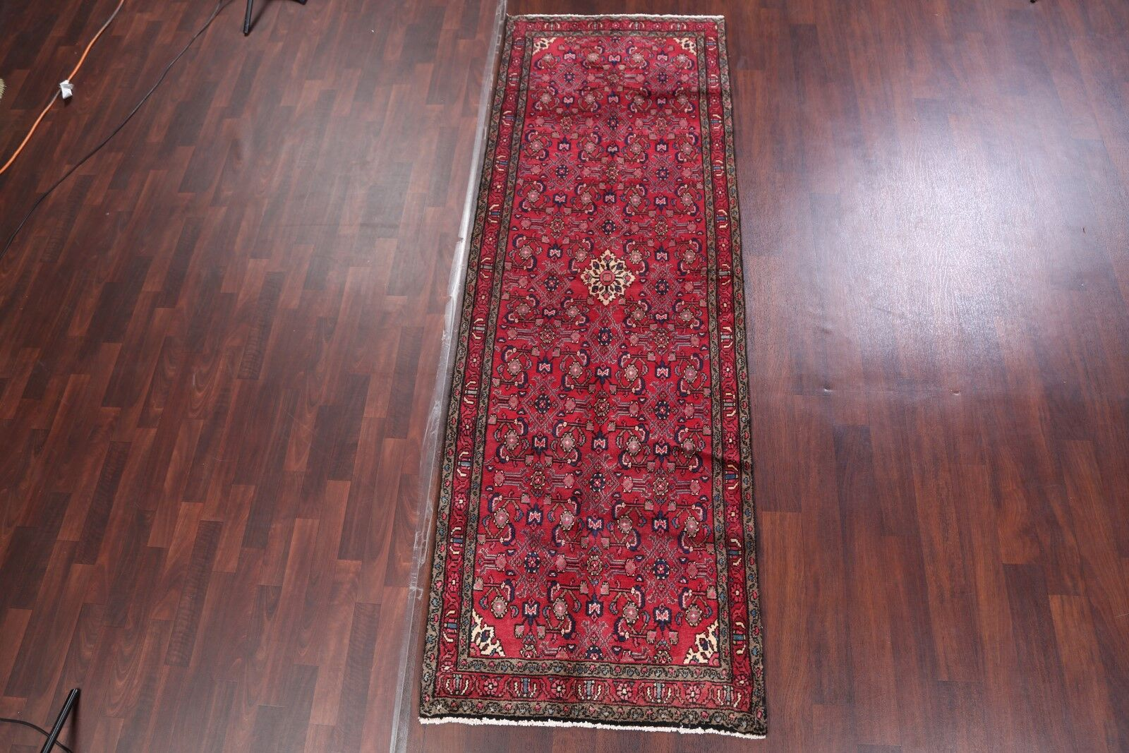 One-of-a-Kind Hamedan Persian Hand-Knotted 3'5