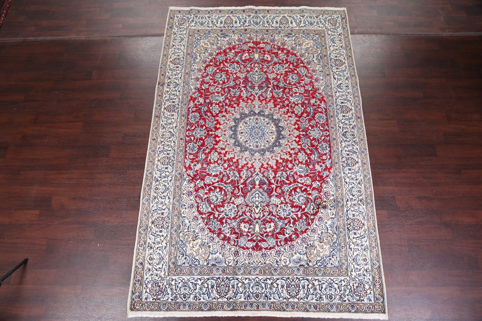 One-of-a-Kind Nain Isfahan Vintage Persian Traditional Hand-Knotted 6'7