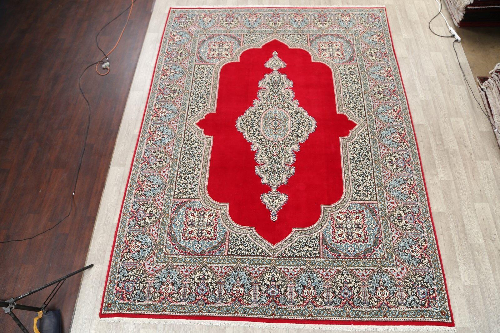 Floral Soft Plush Kerman Persian Red/Gray Area Rug