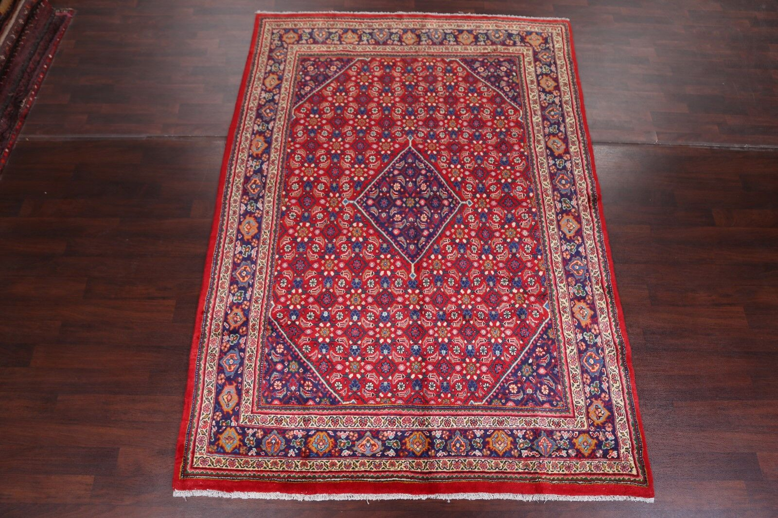 One-of-a-Kind Fink Mahal Sarouk Genuine Persian Traditional Hand-Knotted 7'3