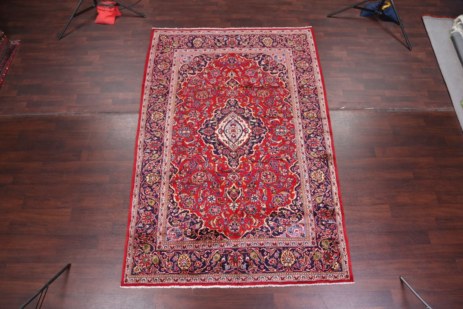 One-of-a-Kind Menard Classical Kashan Persian Traditional Hand-Knotted 6'8