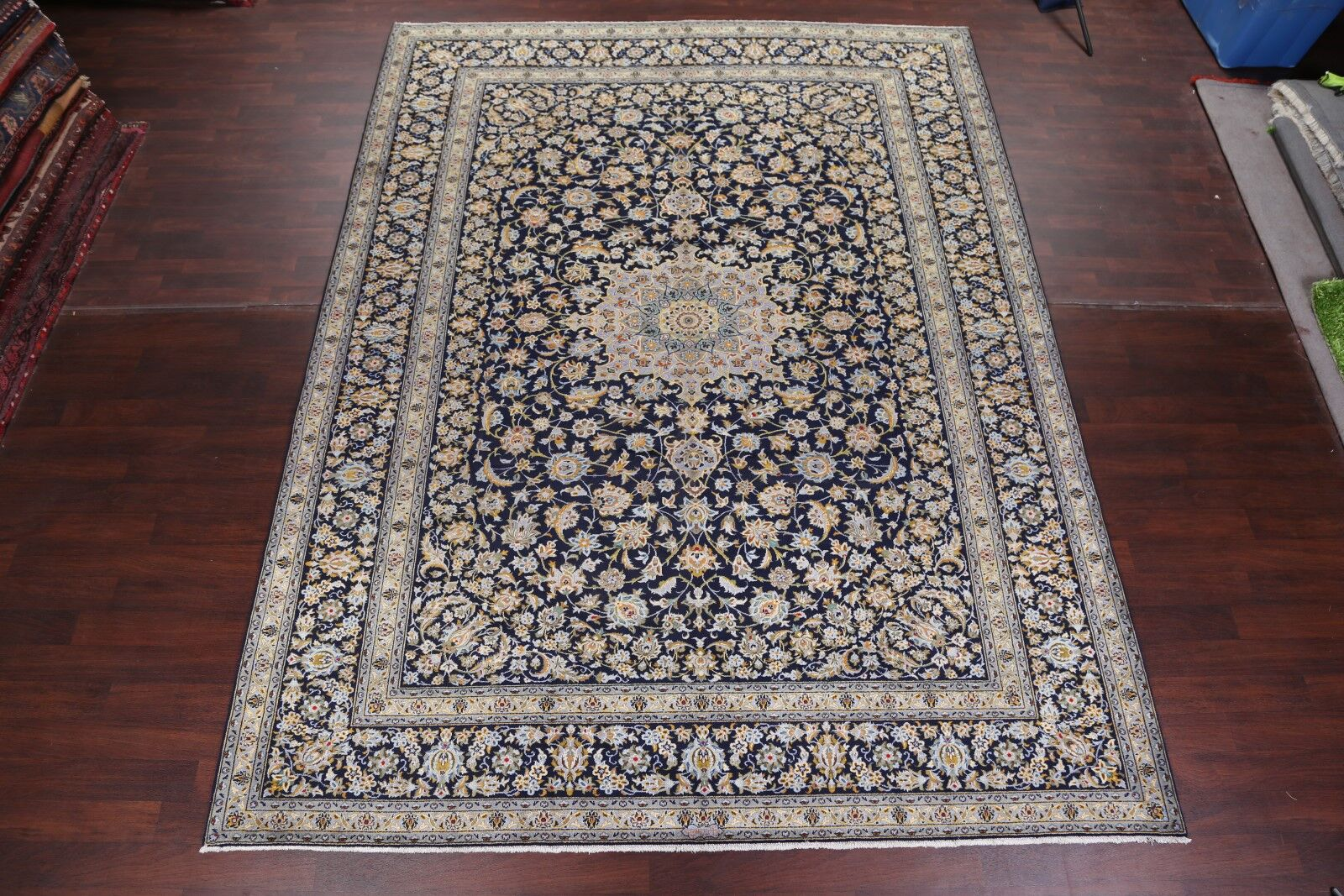 One-of-a-Kind Garlock Kashan Genuine Persian Vintage Hand-Knotted 9'11
