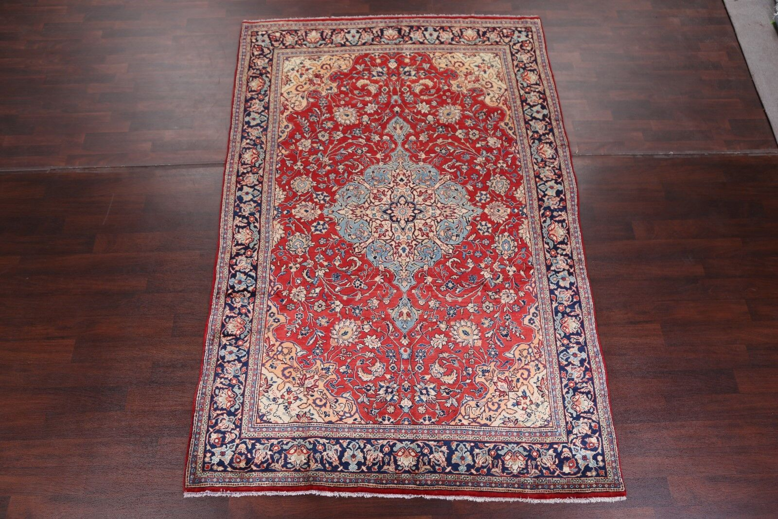 One-of-a-Kind Meneses Sarouk Persian Traditional Vintage Hand-Knotted 6'9