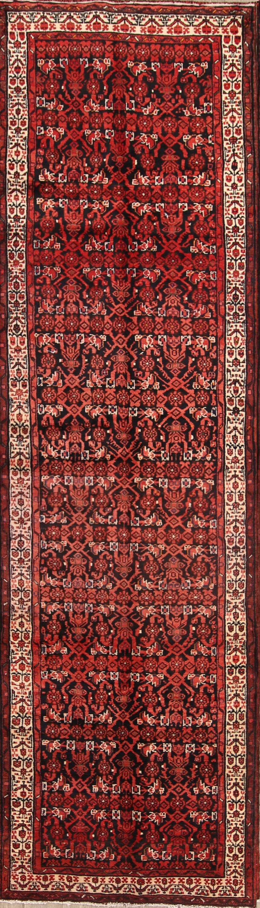 One-of-a-Kind All Over Floral Bakhtiari Persian Hand-Knotted 3'10