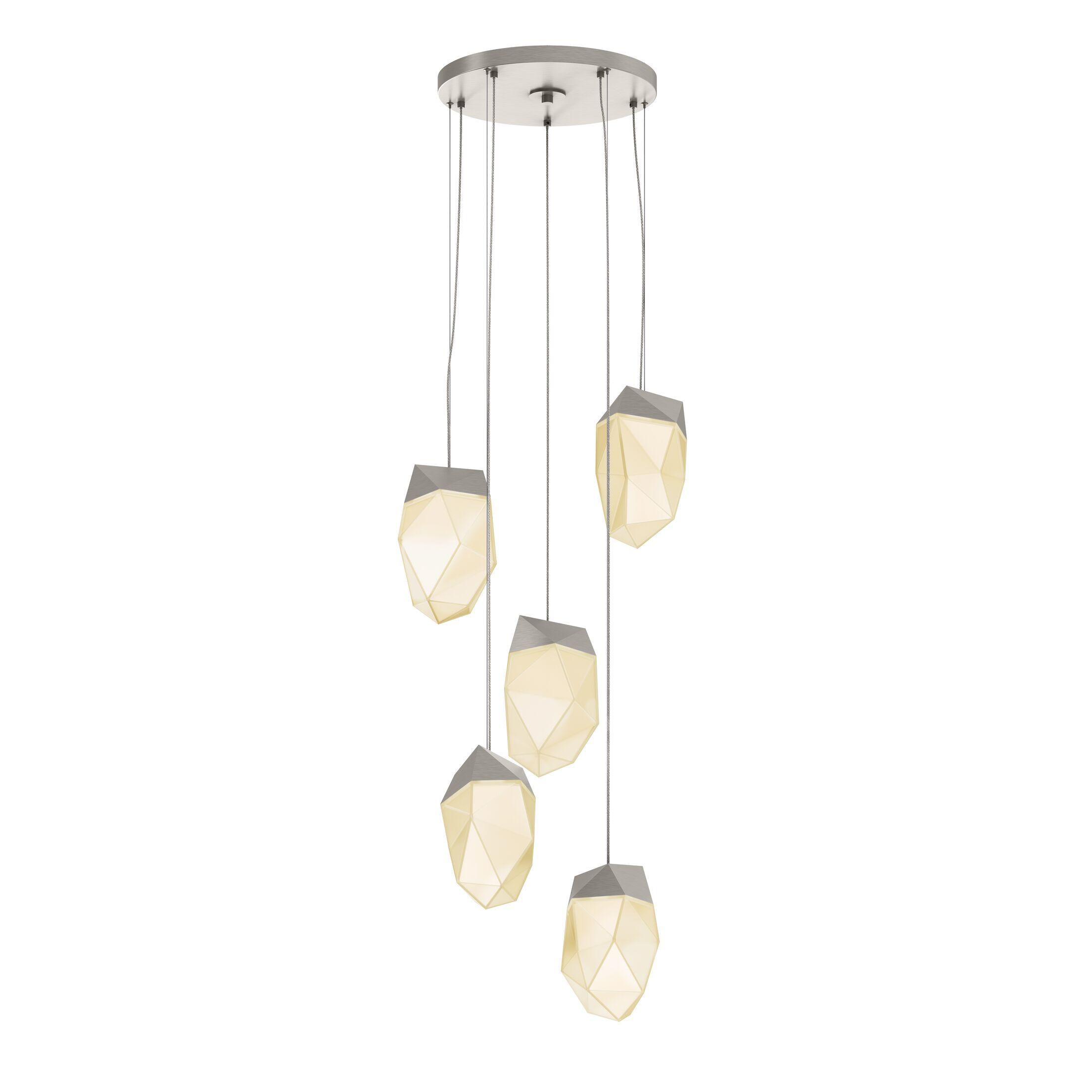 5-Light  LED  Pendant Finish: Satin Nickel