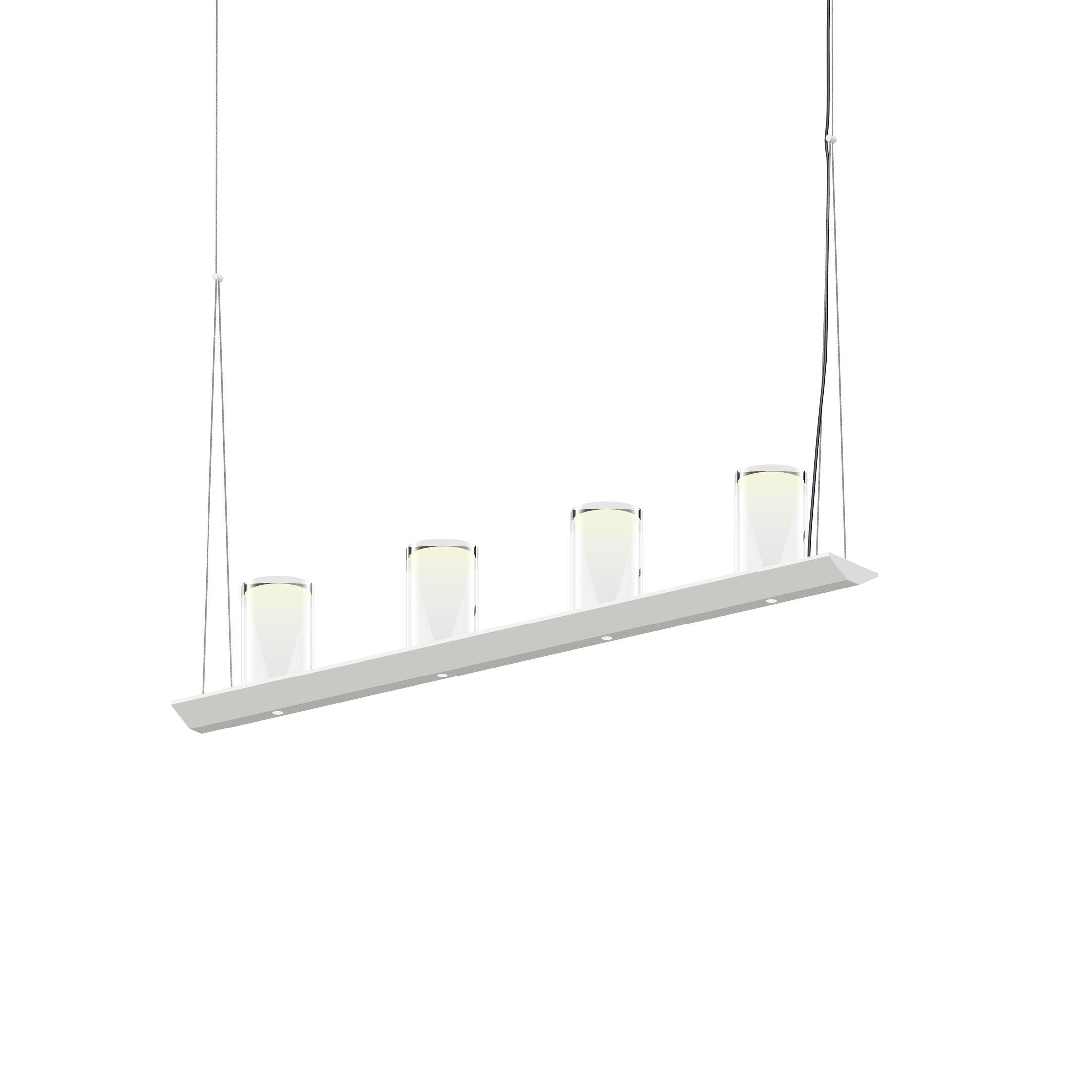 8-Light  LED  Pendant Finish: Satin White