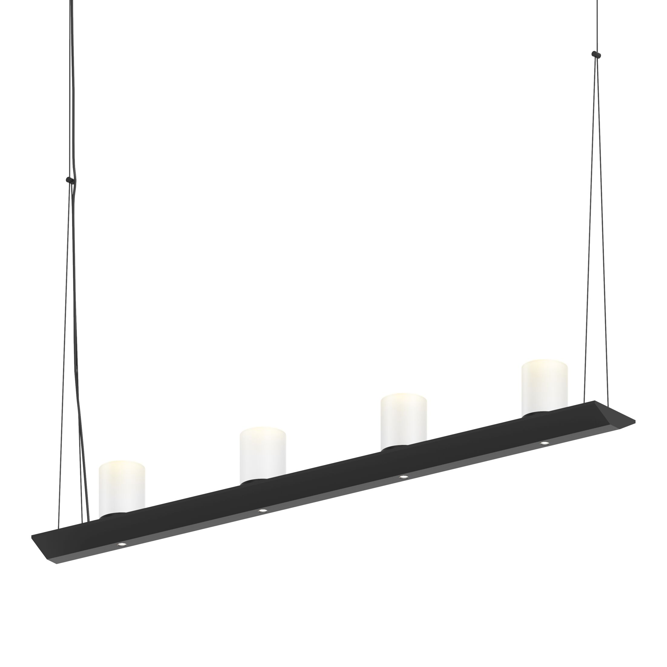 8-Light  LED  Pendant Finish: Satin Black