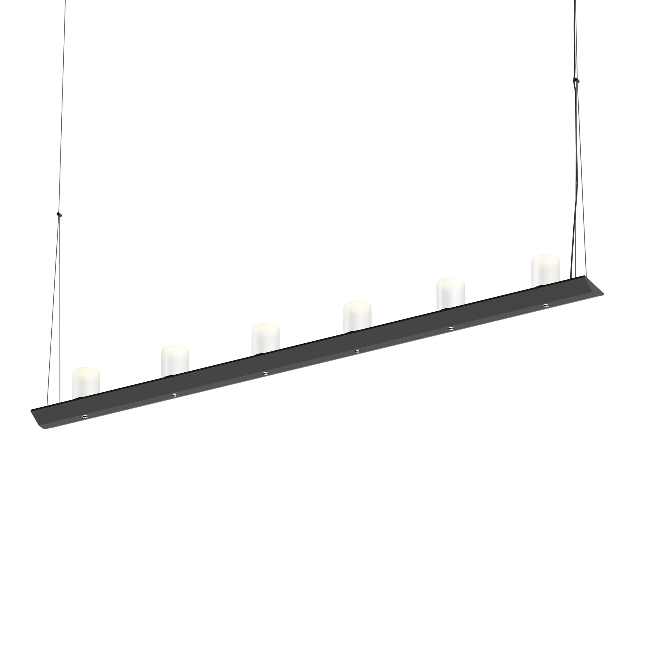 12-Light  LED  Pendant Finish: Satin Black