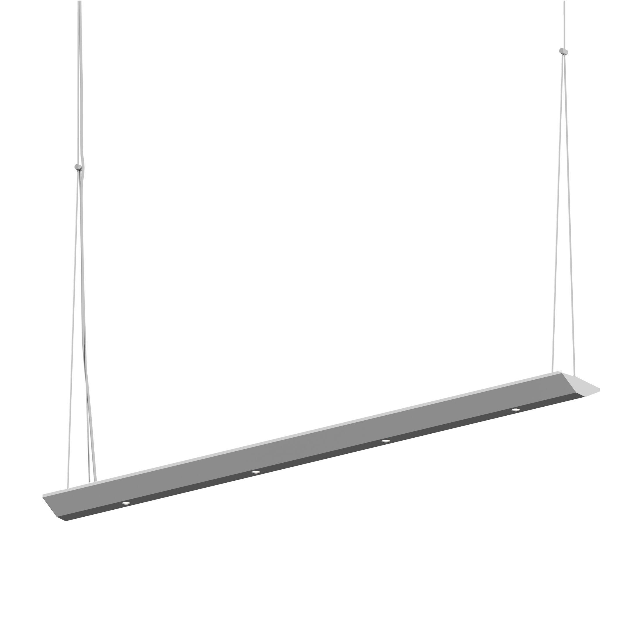 8-Light  LED  Pendant Finish: Bright Satin Aluminum