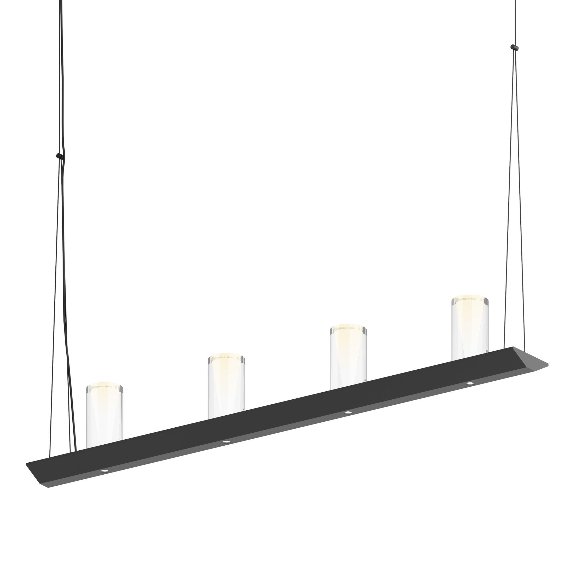 8-Light  LED  Pendant Finish: Satin Black