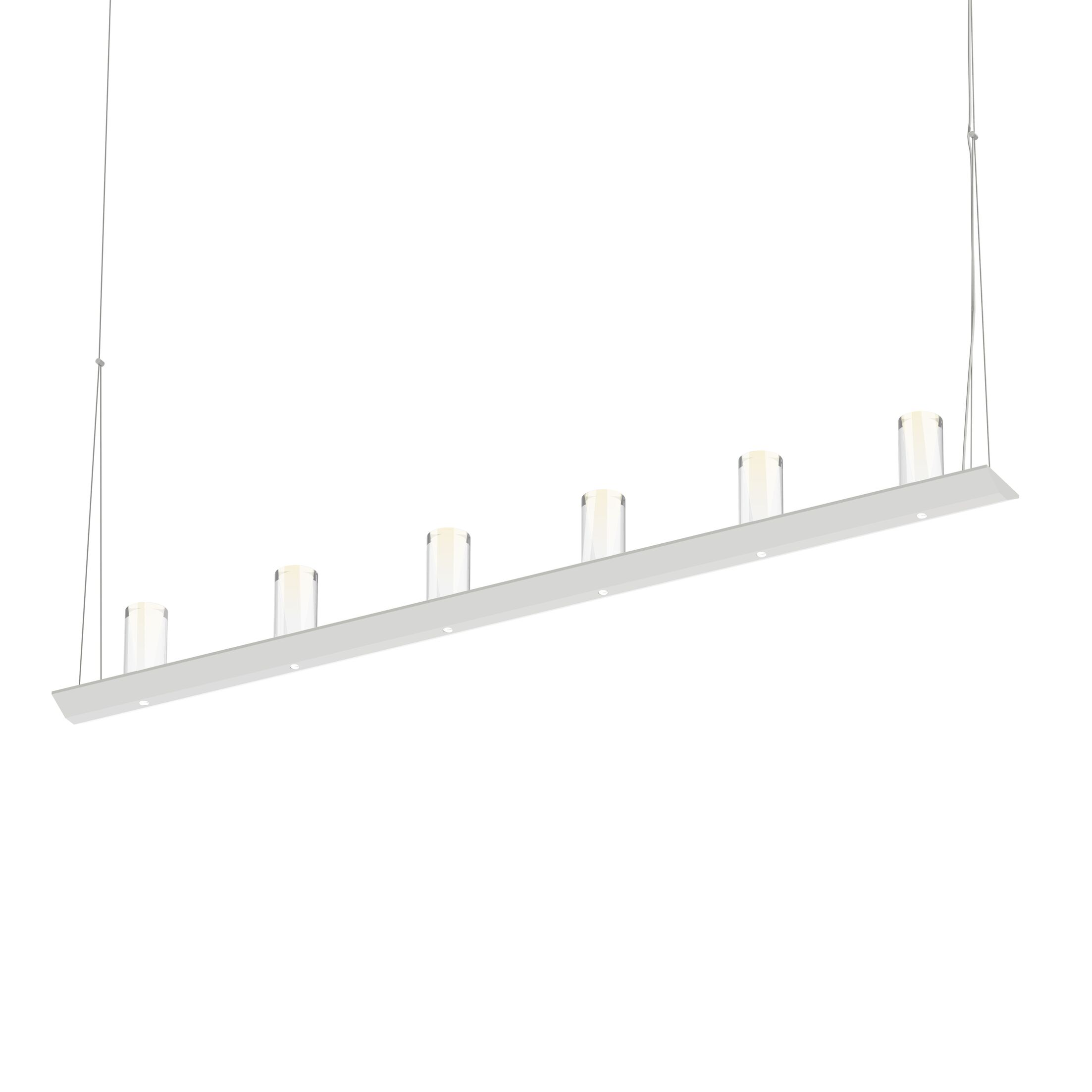 12-Light  LED  Pendant Finish: Satin White