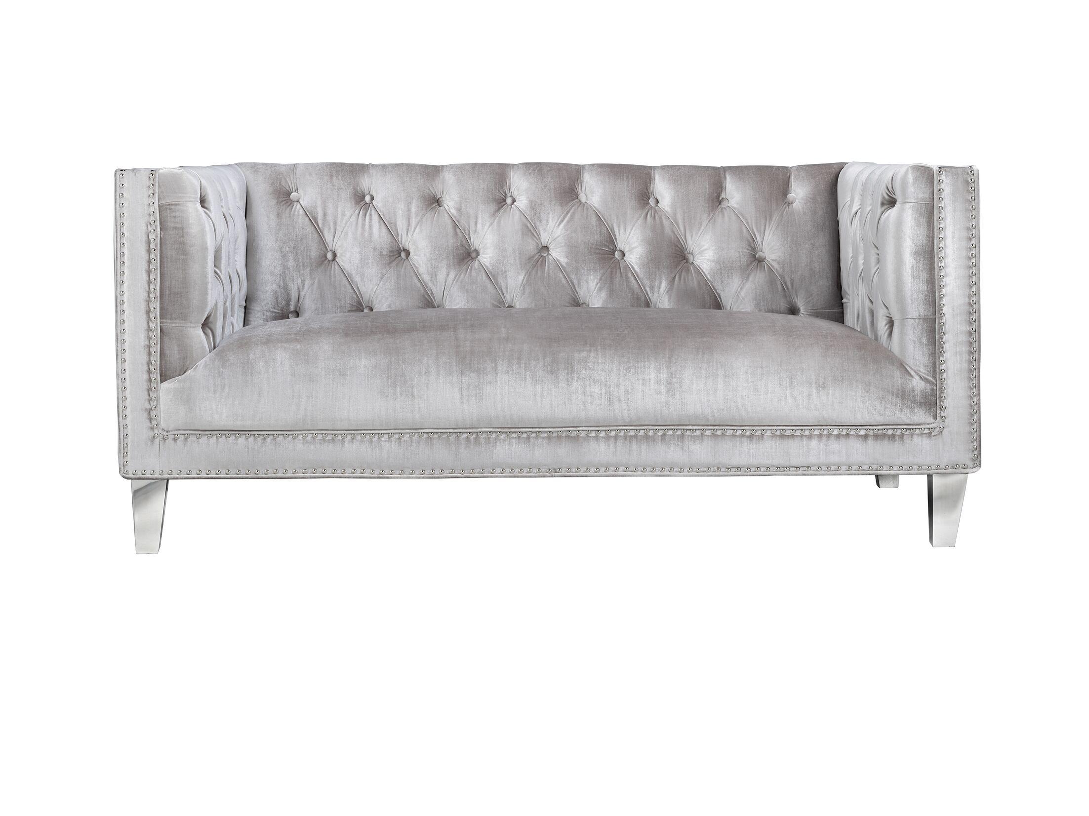 Luxullian Citrus Loveseat Upholstery: Gray