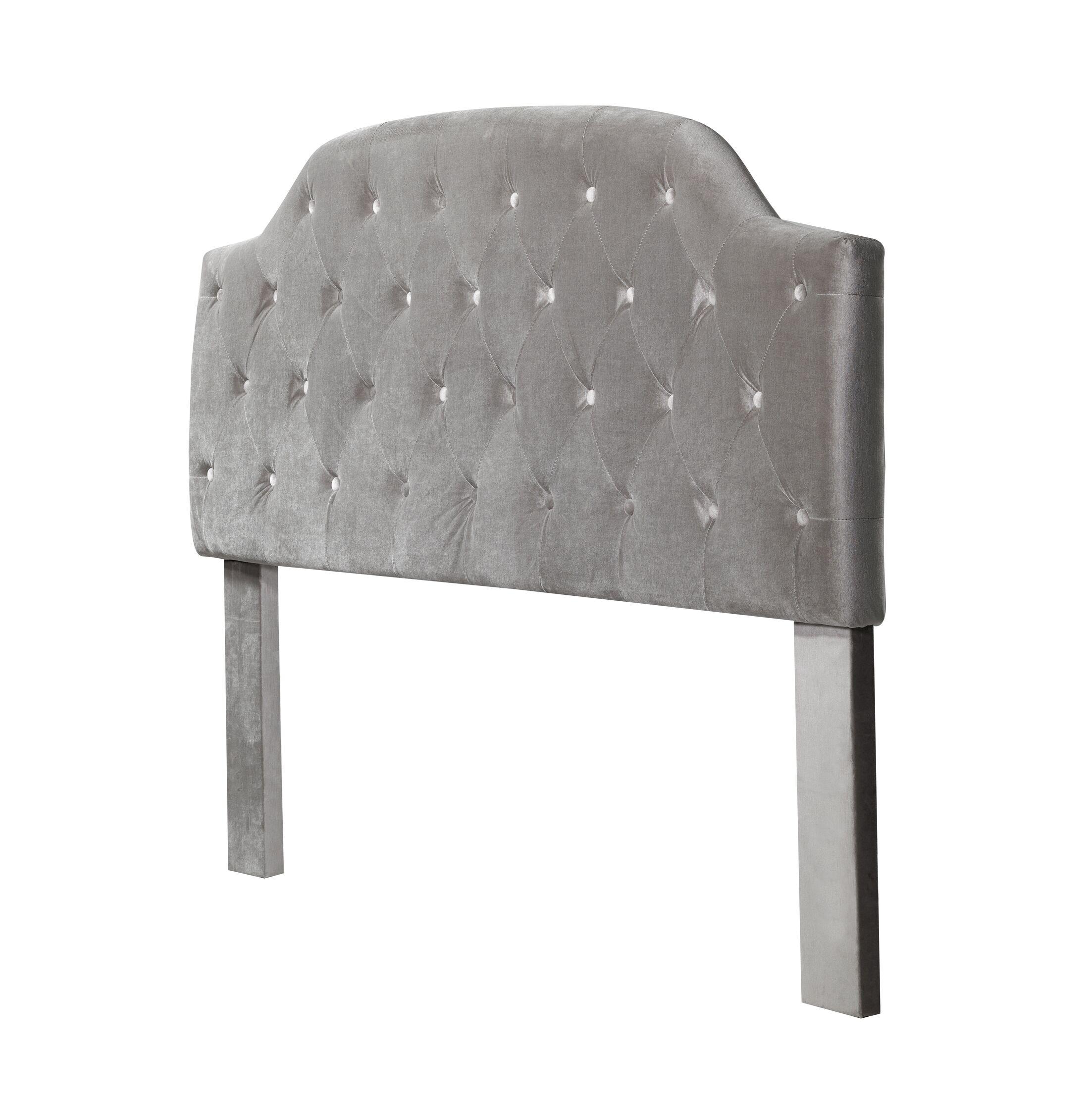 Mason Freda Upholstered Panel Headboard Size: Queen, Upholstery: Gray