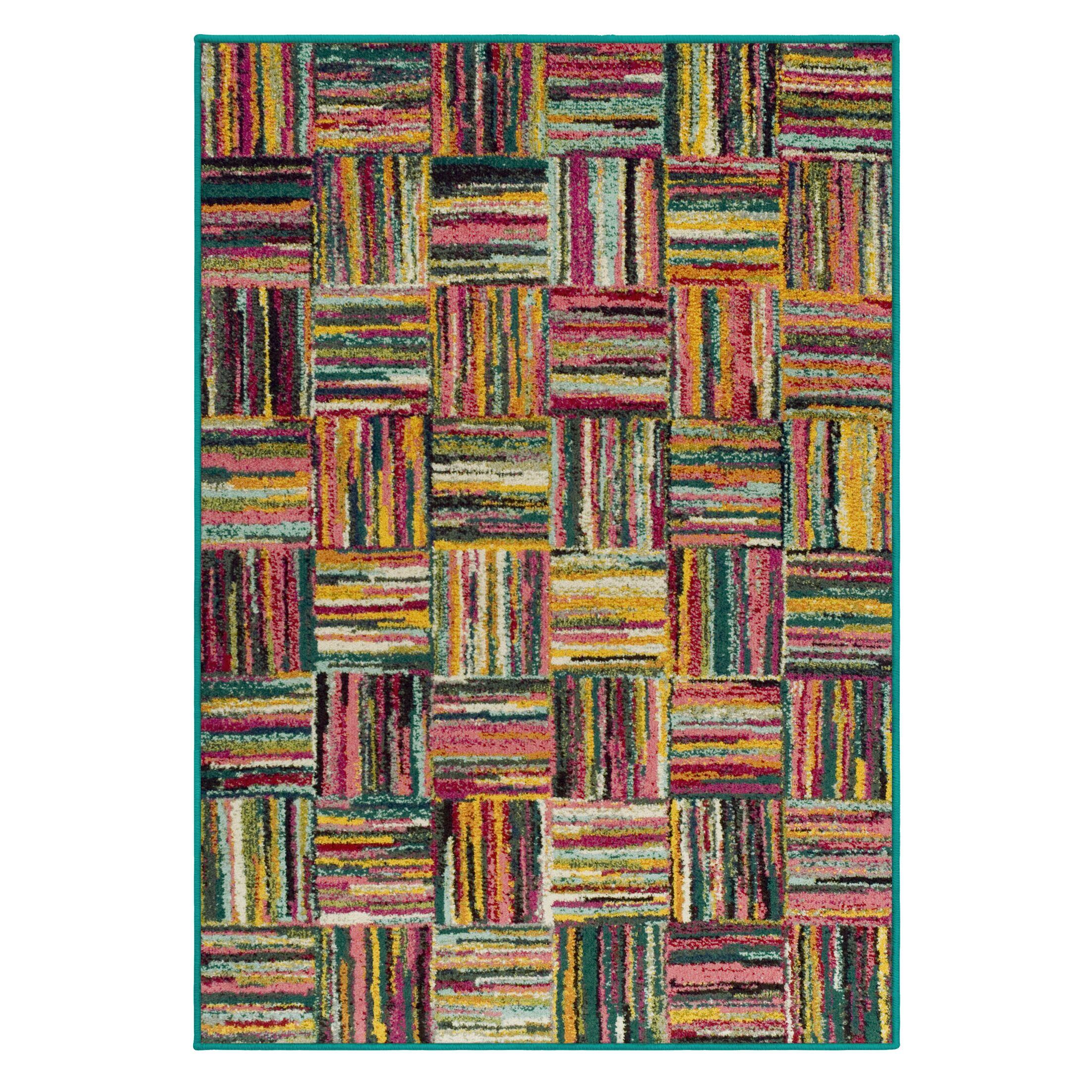Yacoubou Yellow Area Rug Rug Size: Rectangle 5' x 8'