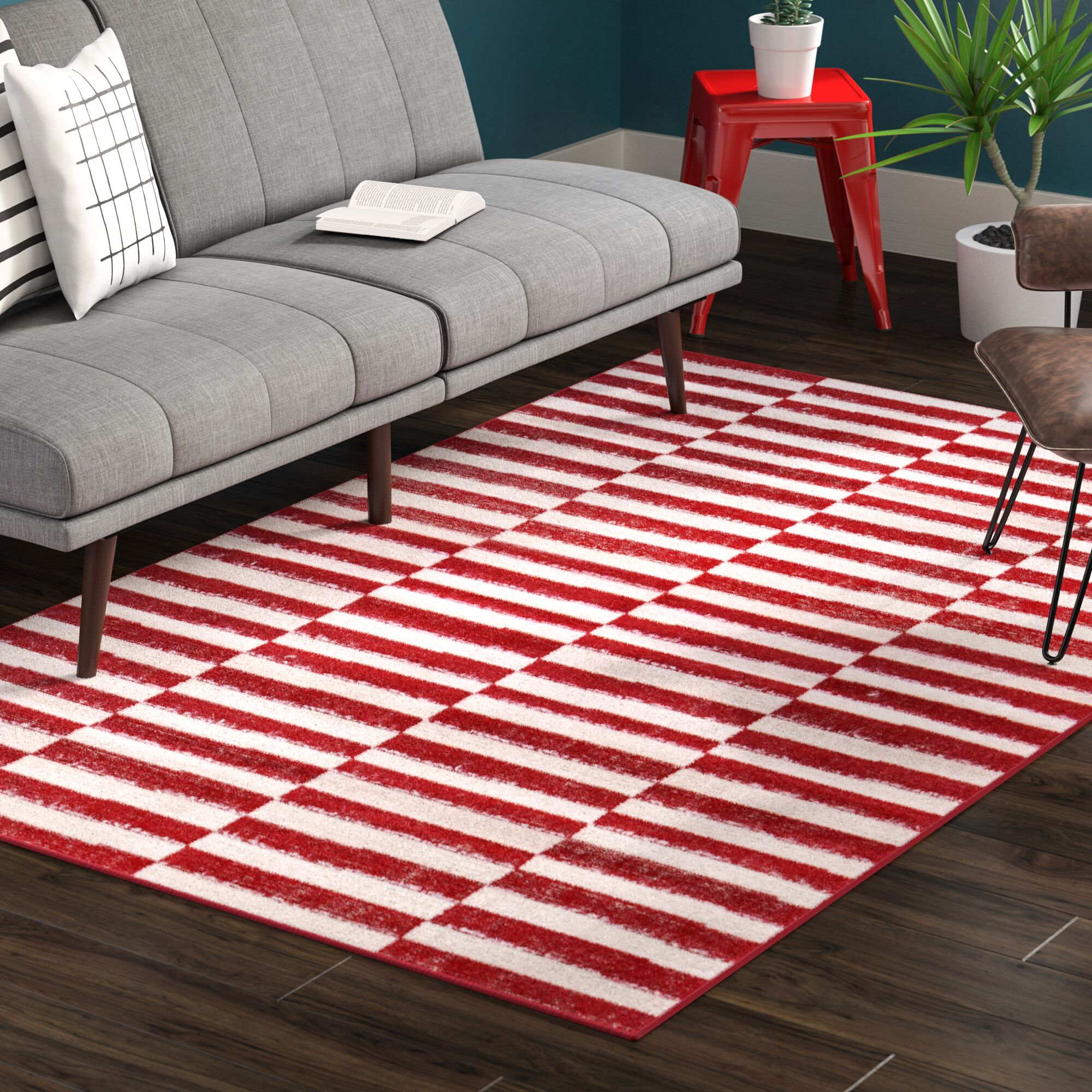 Mcgrail Red Area Rug Rug Size: Rectangle 9' x 12'