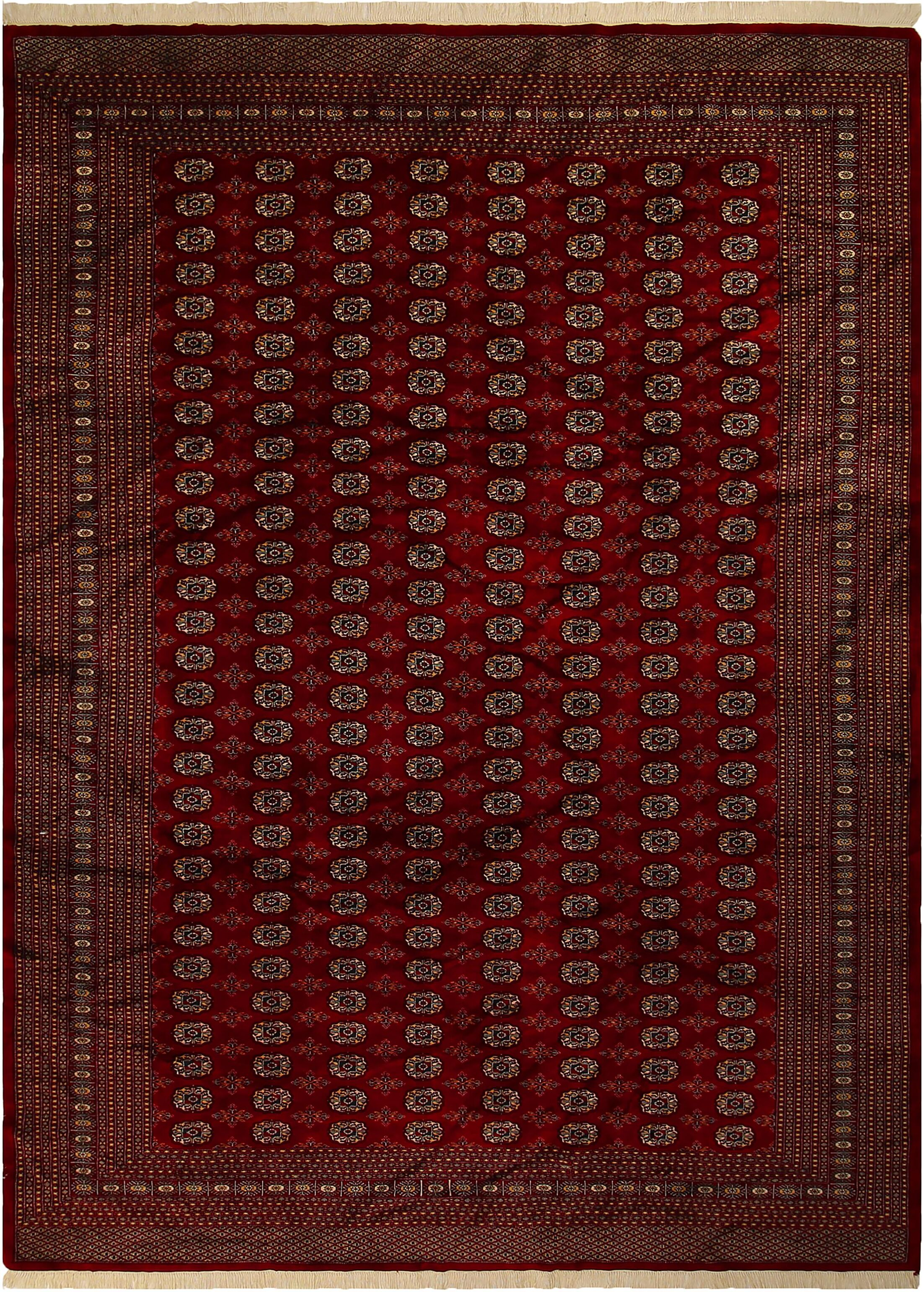 One-of-a-Kind Tanaquil Hand-Knotted Wool Red/Gold Area Rug