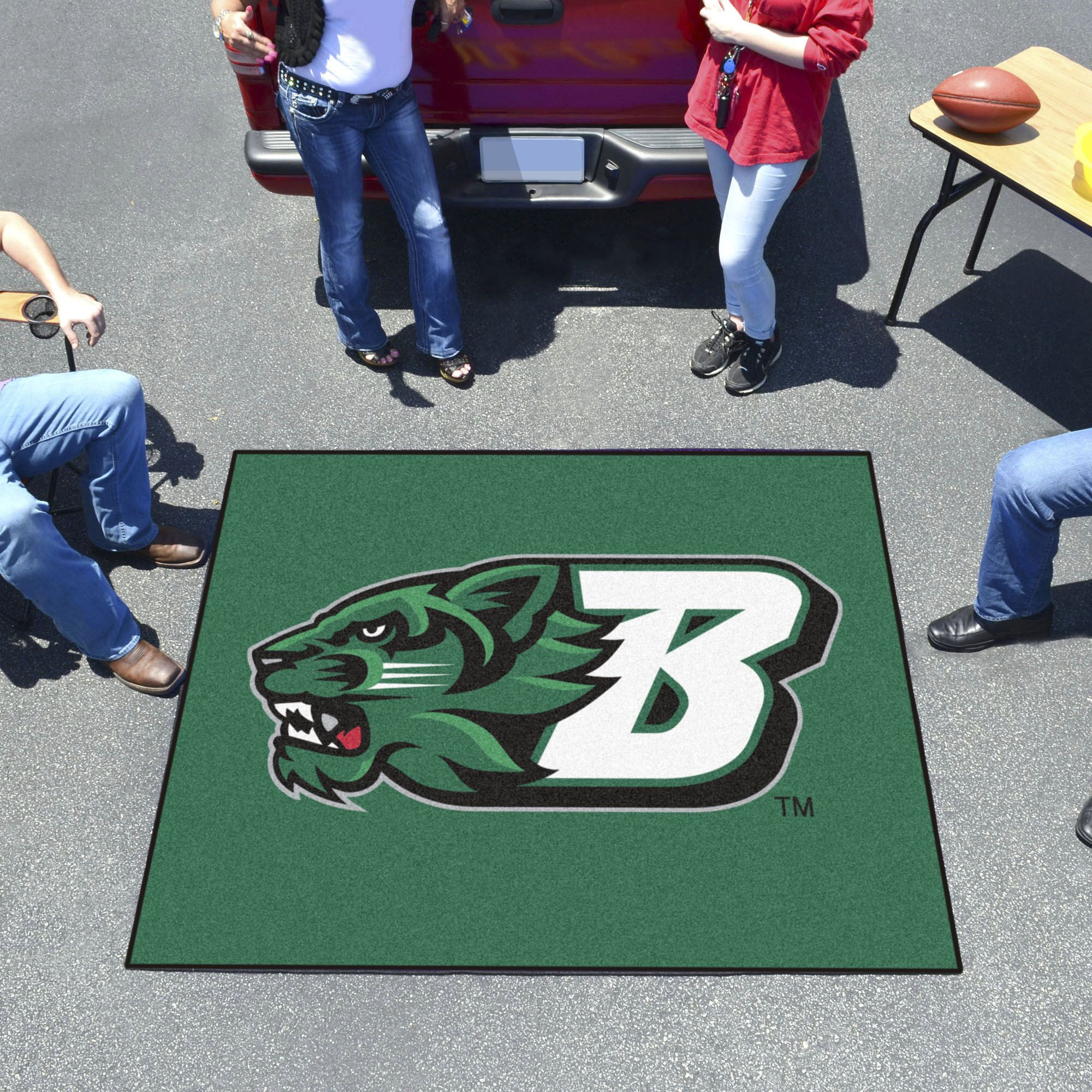 Binghamton University Doormat Mat Size: Rectangle 5' x 6'