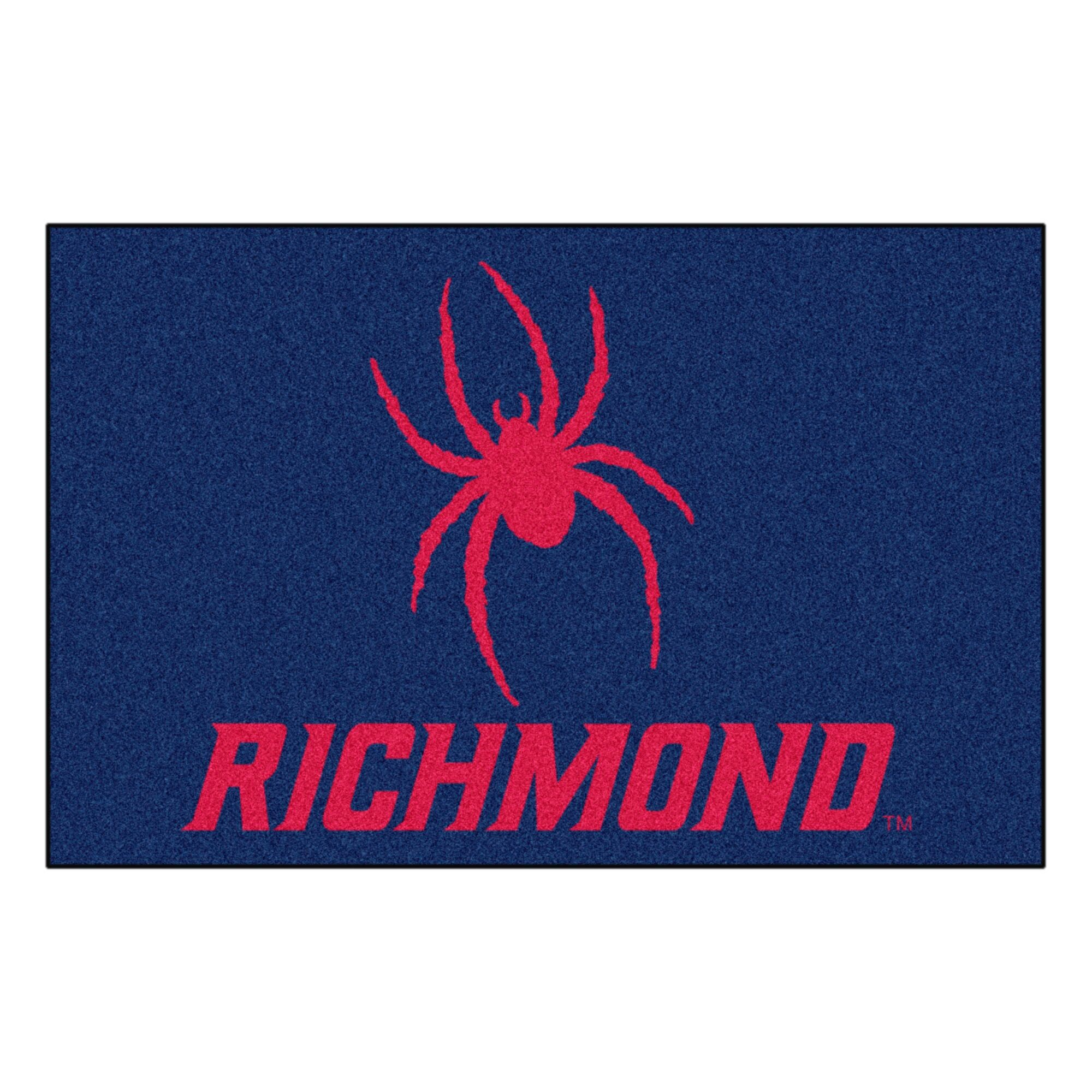 University of Richmond Doormat Color: Blue, Mat Size: Rectangle 1'7