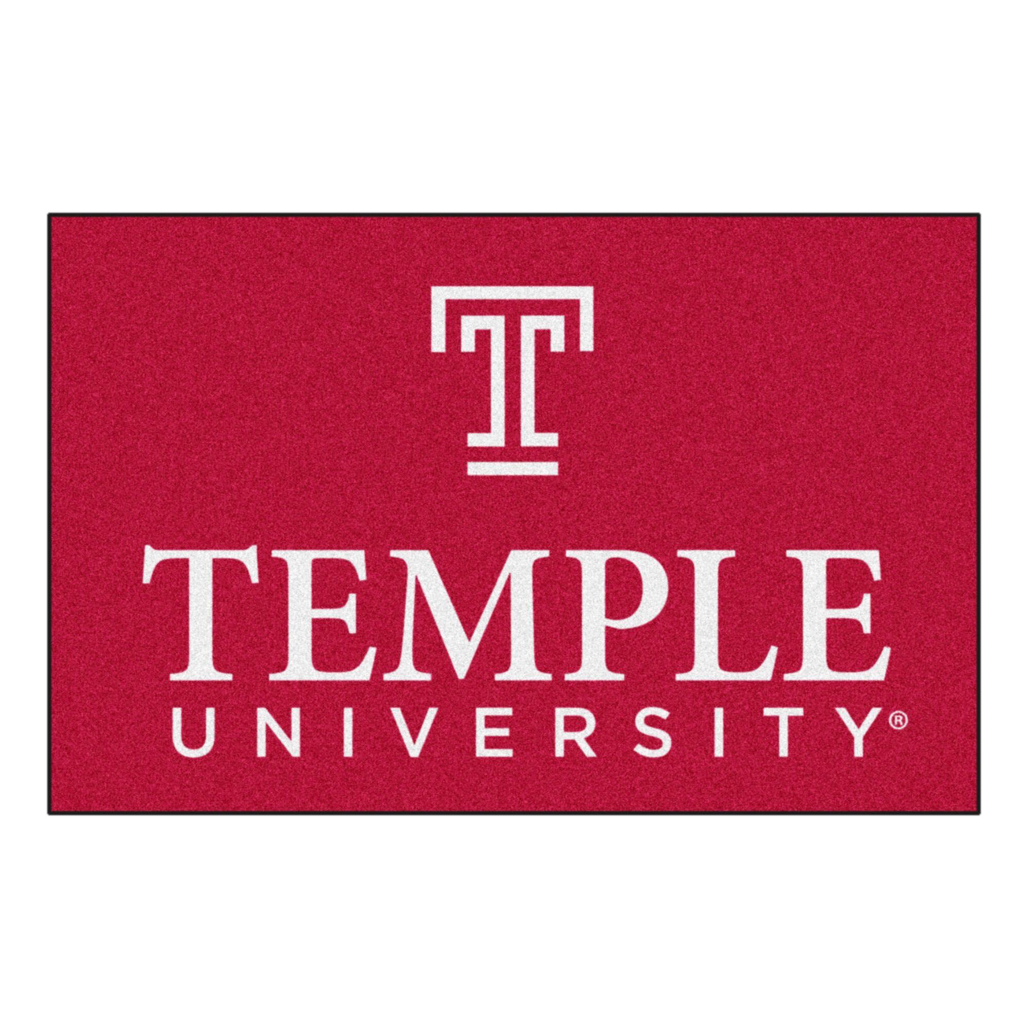 Temple University Doormat Mat Size: Rectangle 1'7