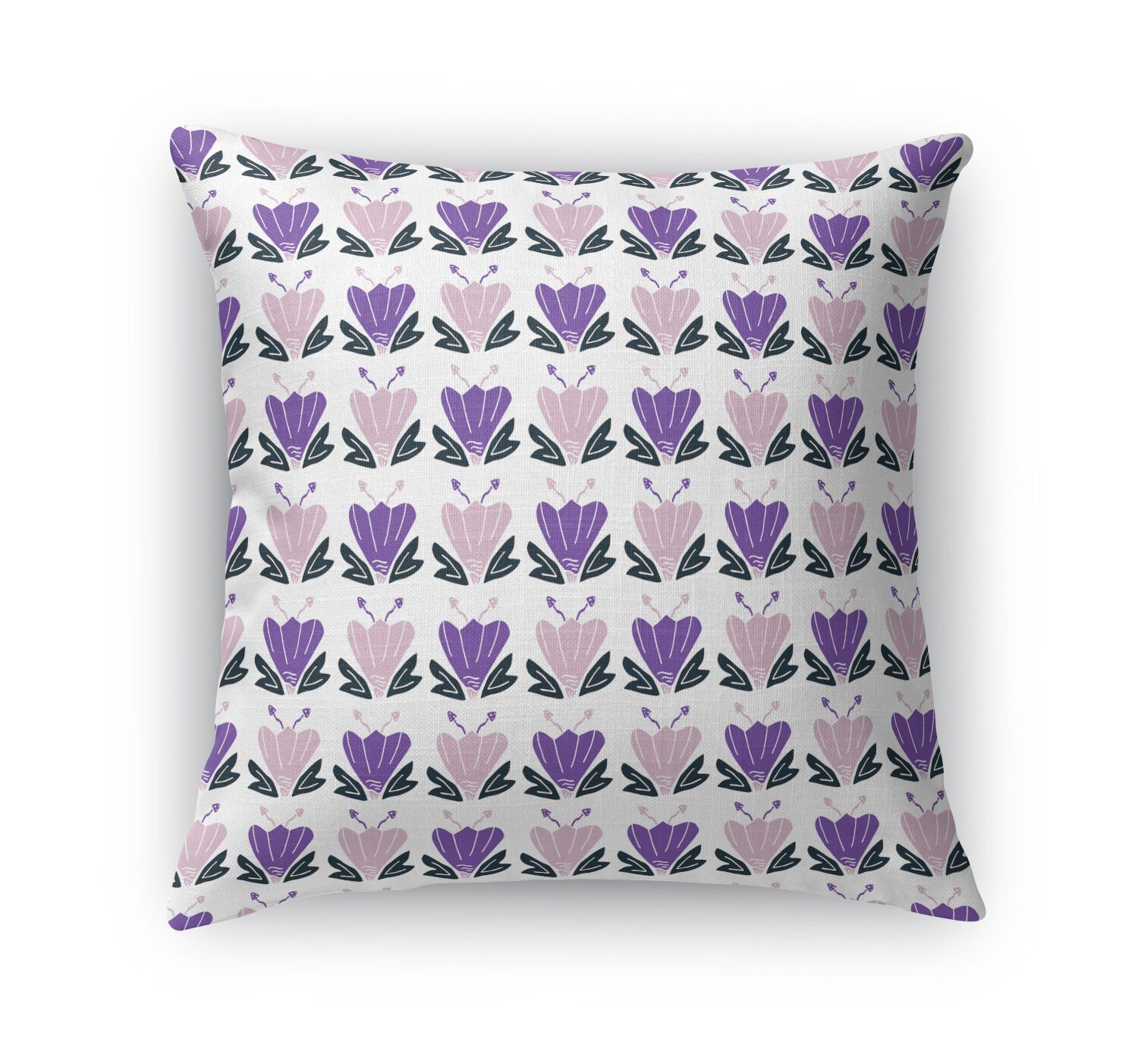 Dung Tulip Country Throw Pillow Size: 24
