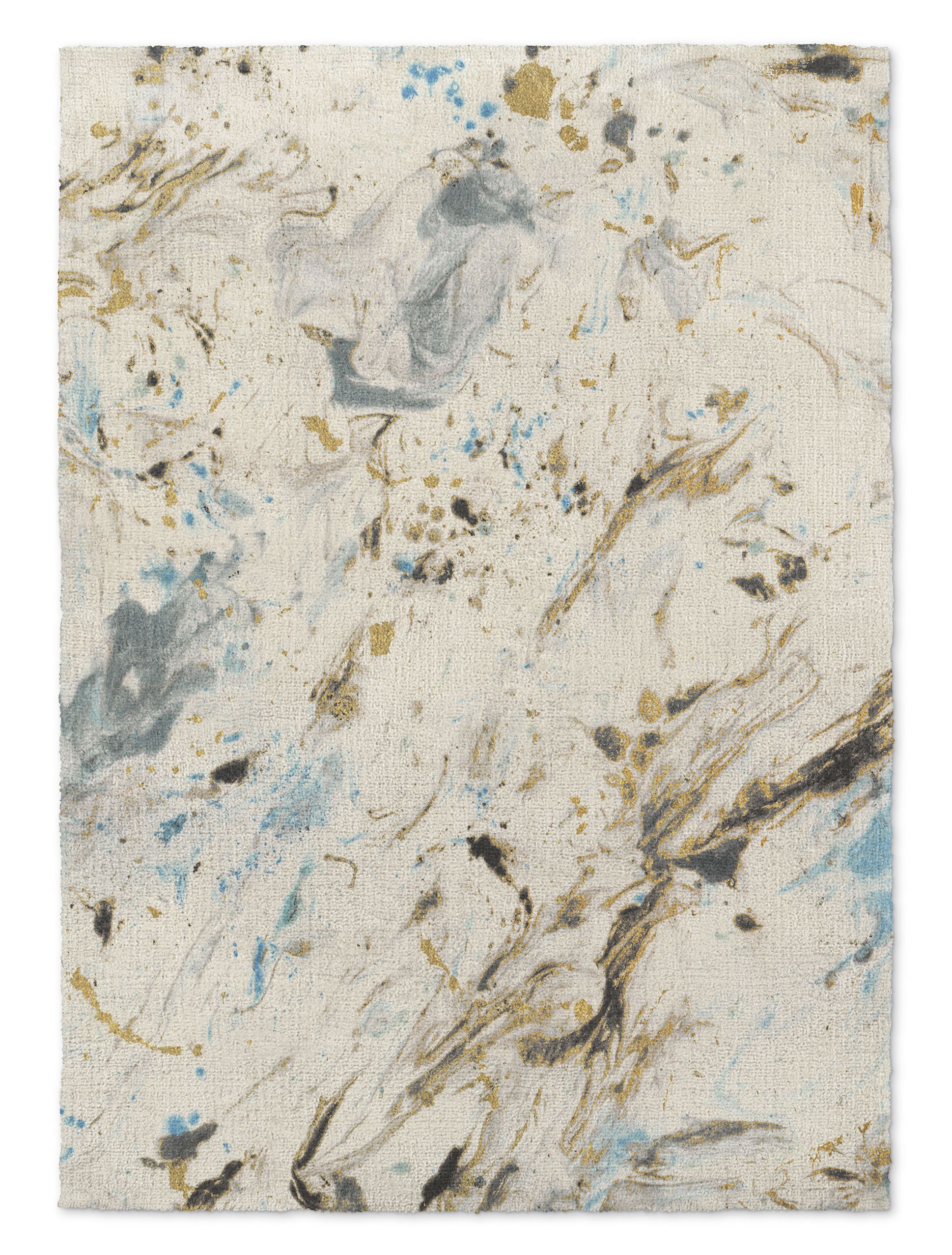 Davila Marbled Blue/Gray Area Rug Rug Size: Rectangle 5' x 7'