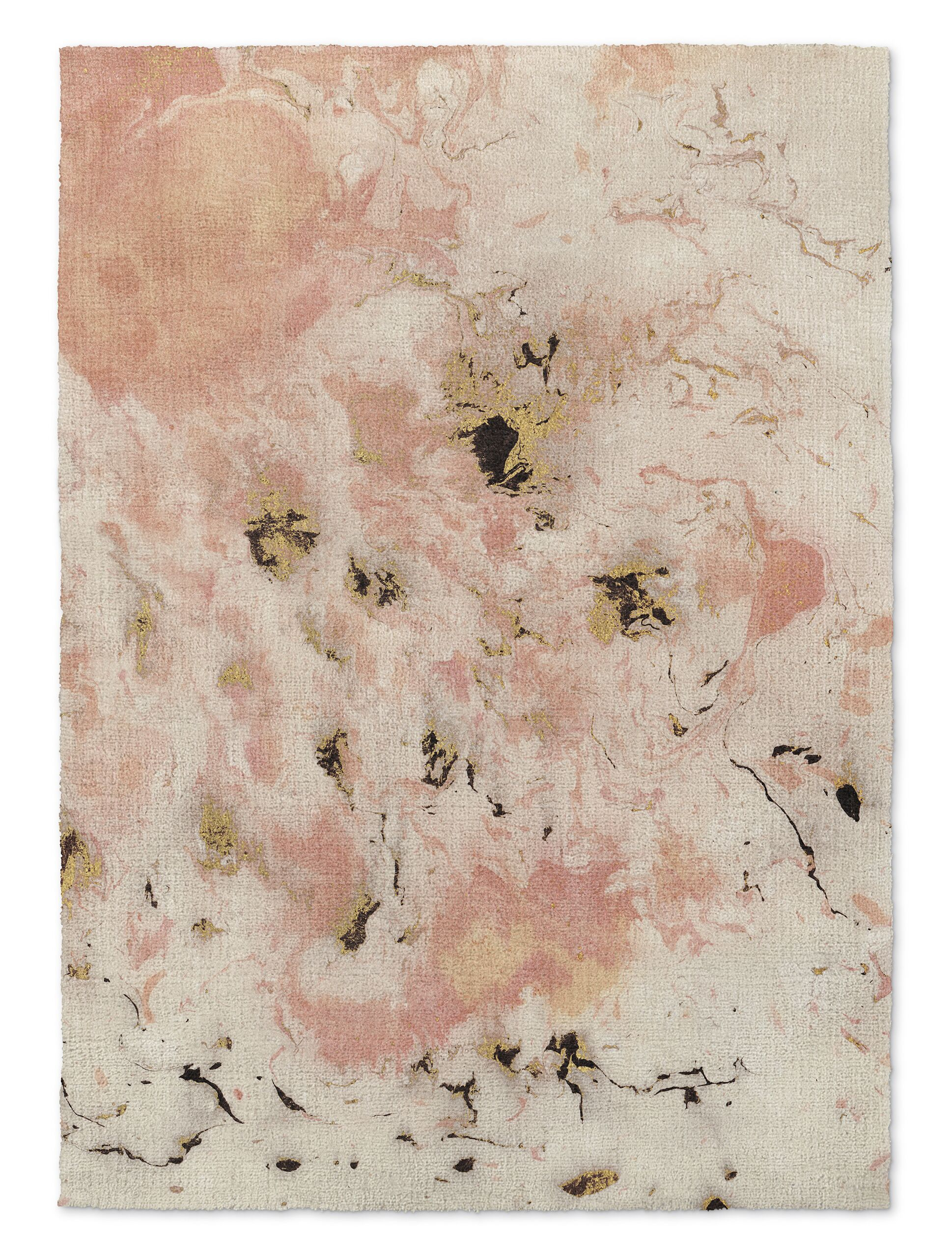 Davin Marbled Pink/Gray Area Rug Rug Size: Rectangle 5' x 7'