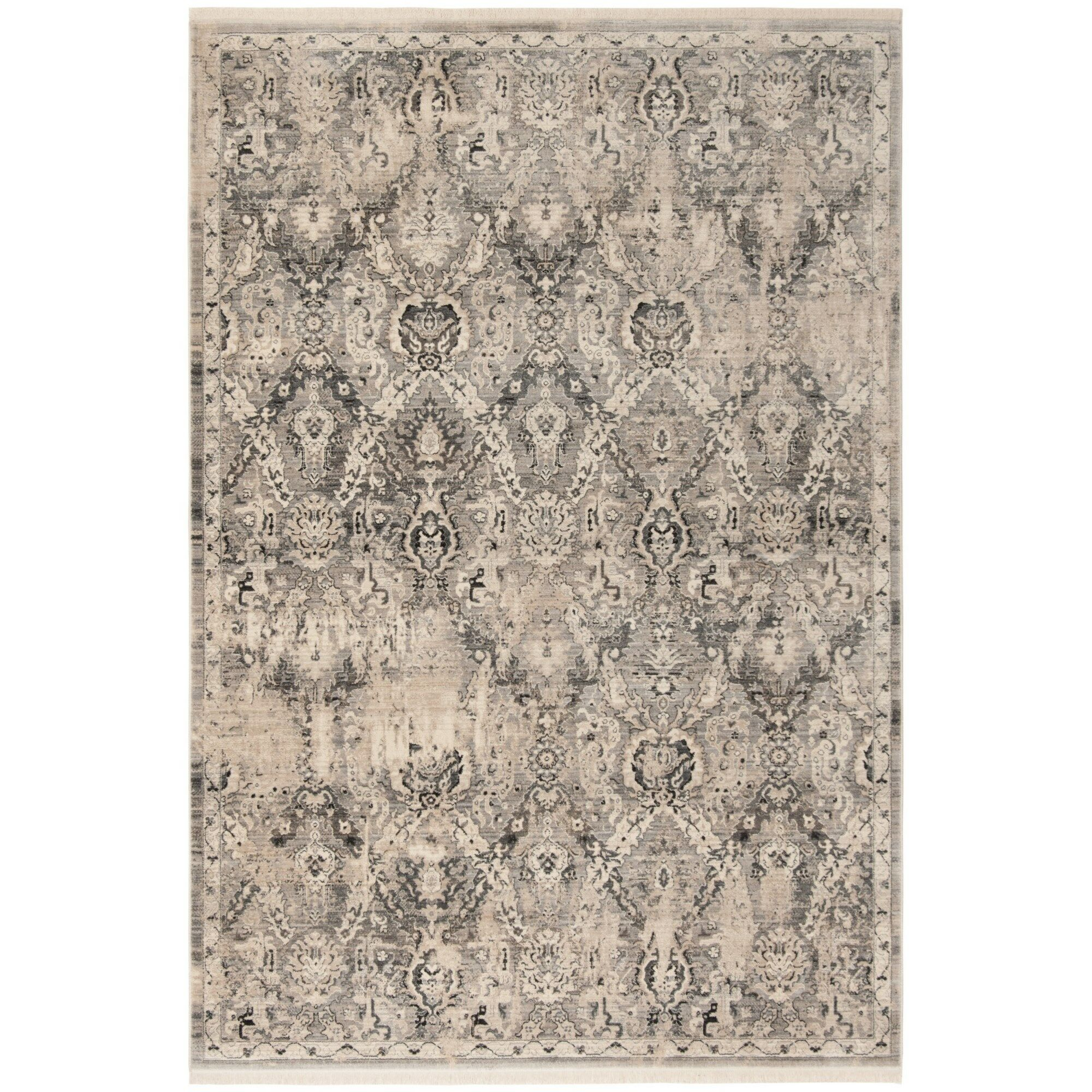 Voigt Vintage Persian Gray/Blue Area Rug Rug Size: Rectangle 8' x 10'