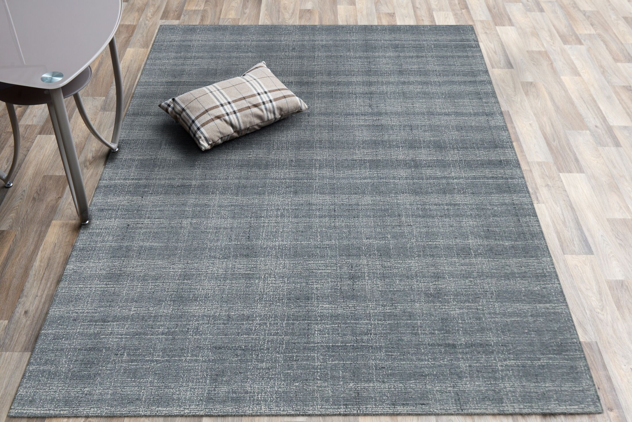Mazzarella Hand-Tufted Wool Gray Area Rug Rug Size: Rectangle 8'1