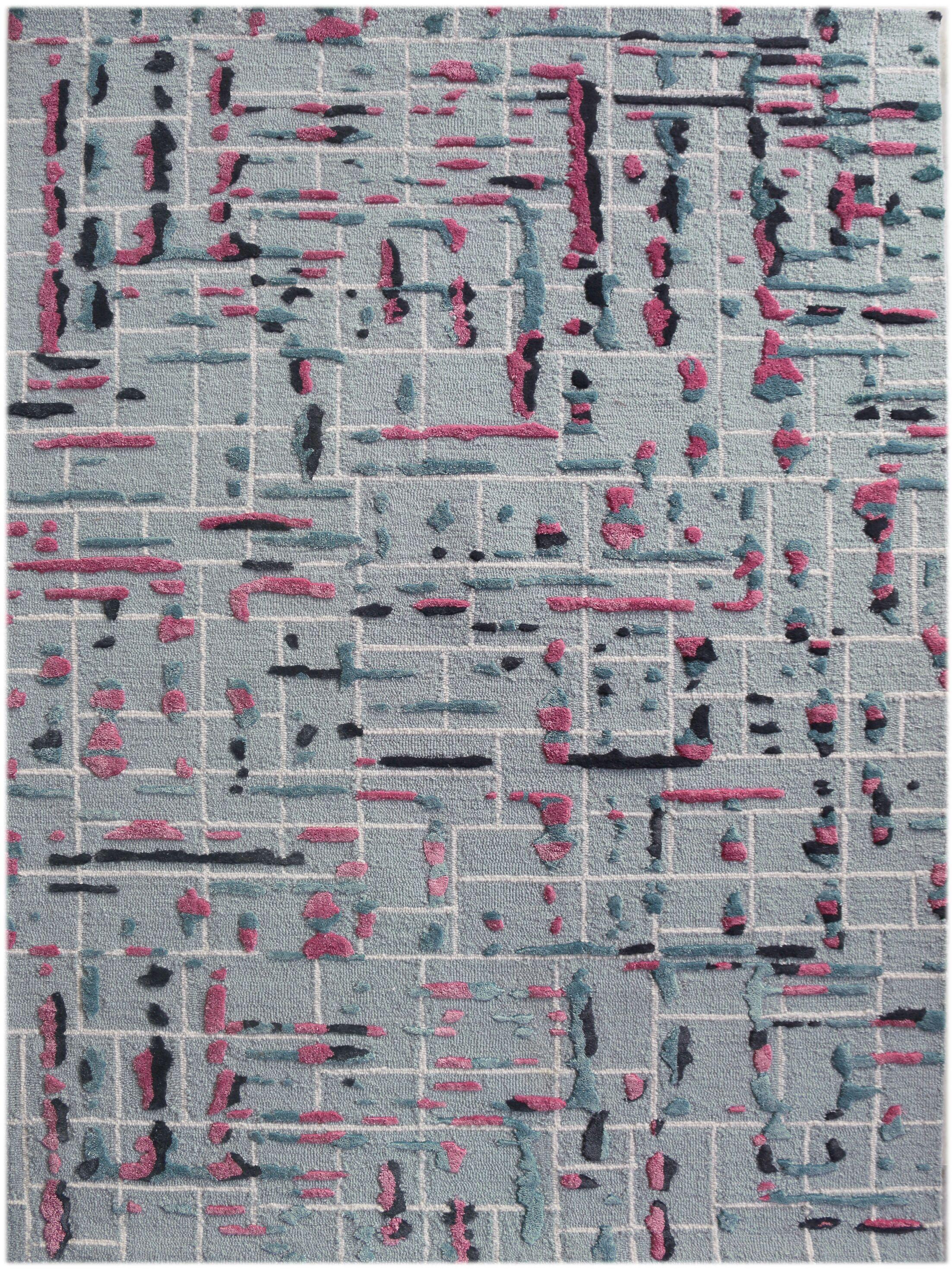 Faraci Hand-Tufted Pink Area Rug Rug Size: Rectangle 5' x 7'6