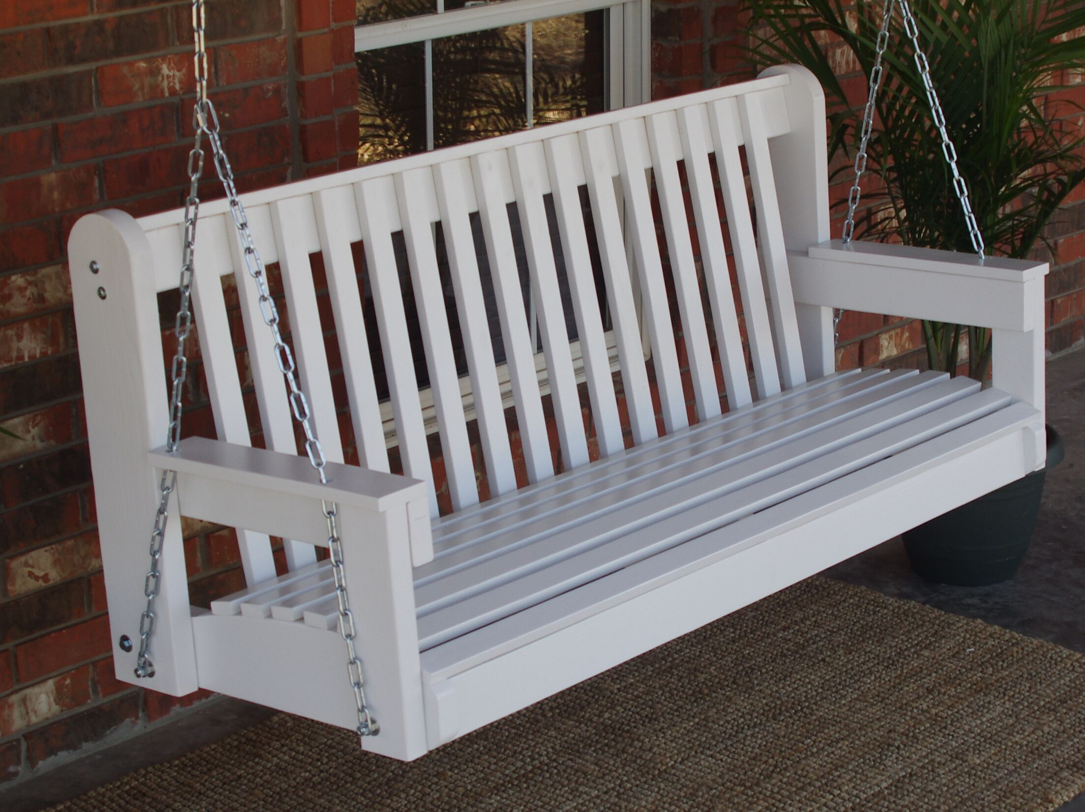 Micelotta High Back Porch Swing Size: 27