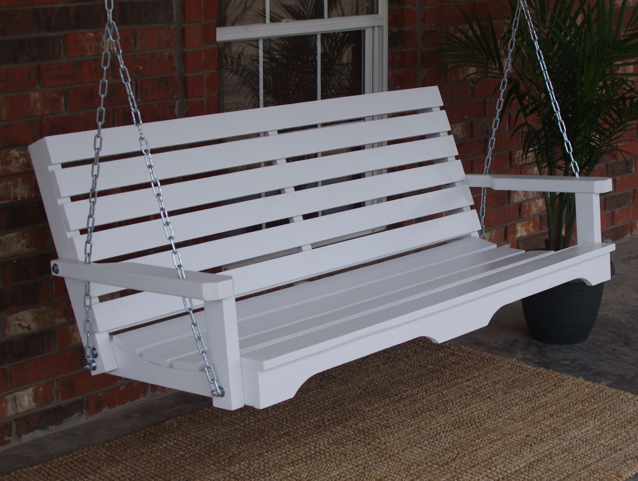 Bisantz Country Style Porch Swing Finish: Zinc Plated/Galvanized, Size: 24.5