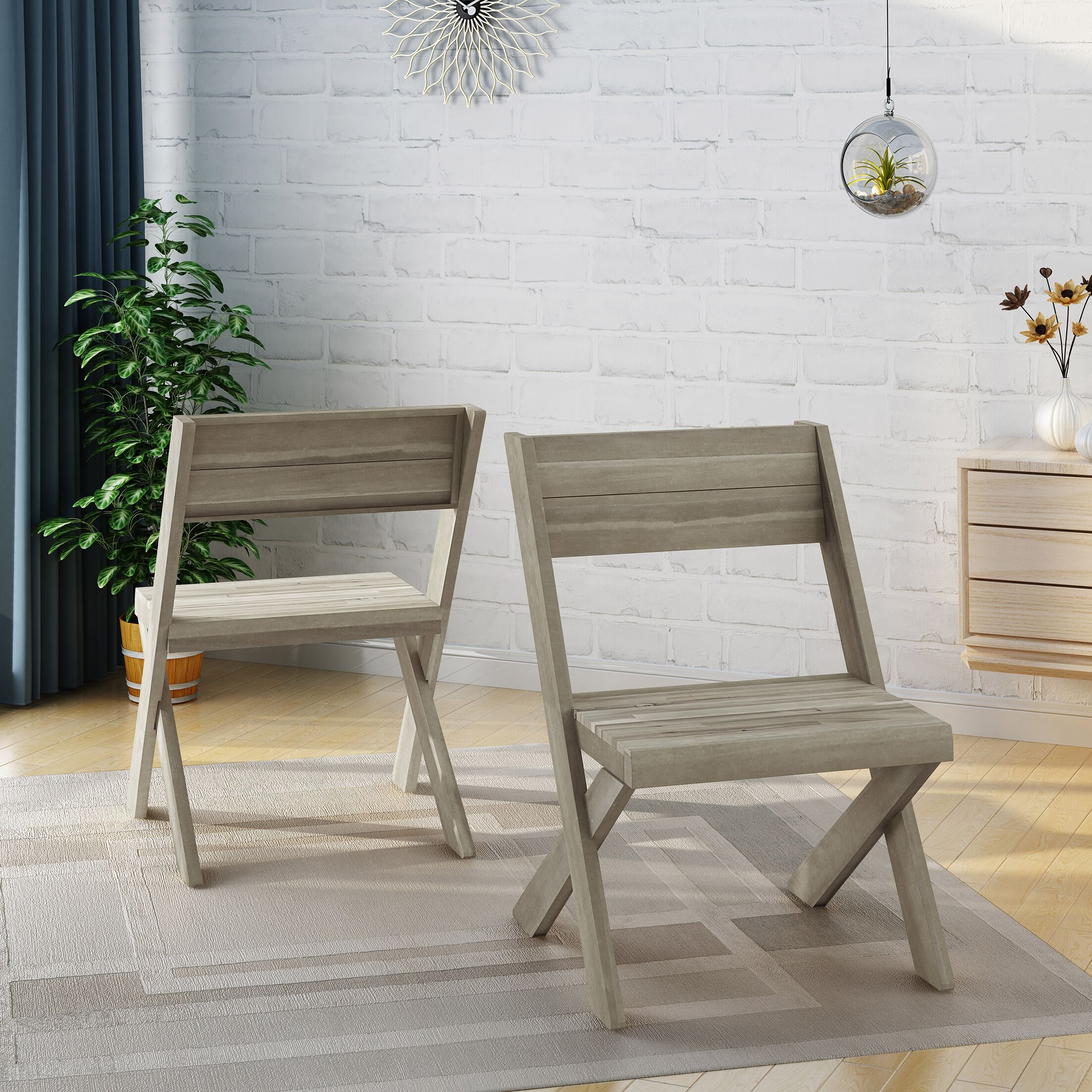 Indoor Farmhouse Solid Wood Dining Chair Color: Sandblast Light Gray