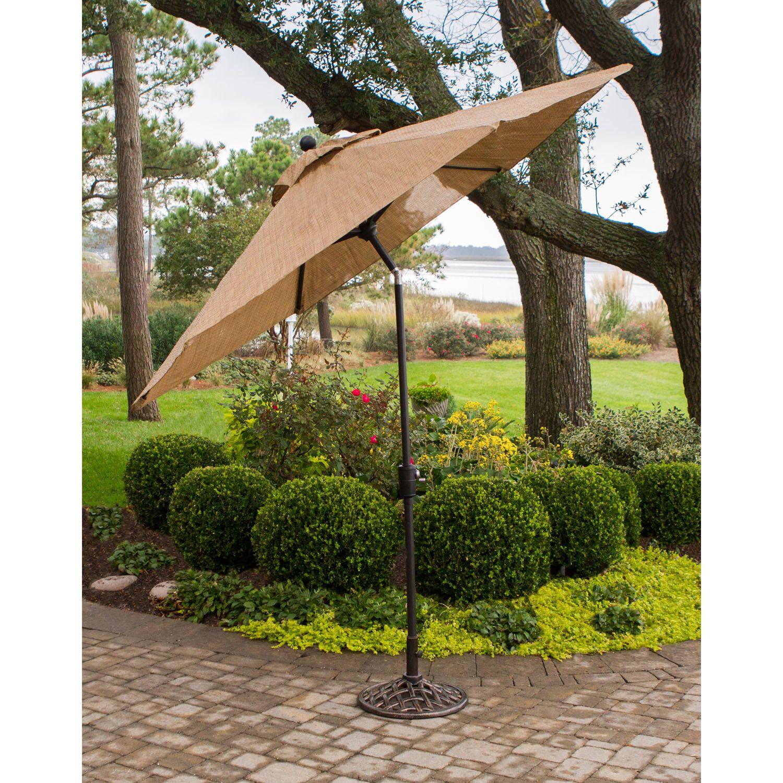 Buariki 7 Piece Dining Set with Umbrella