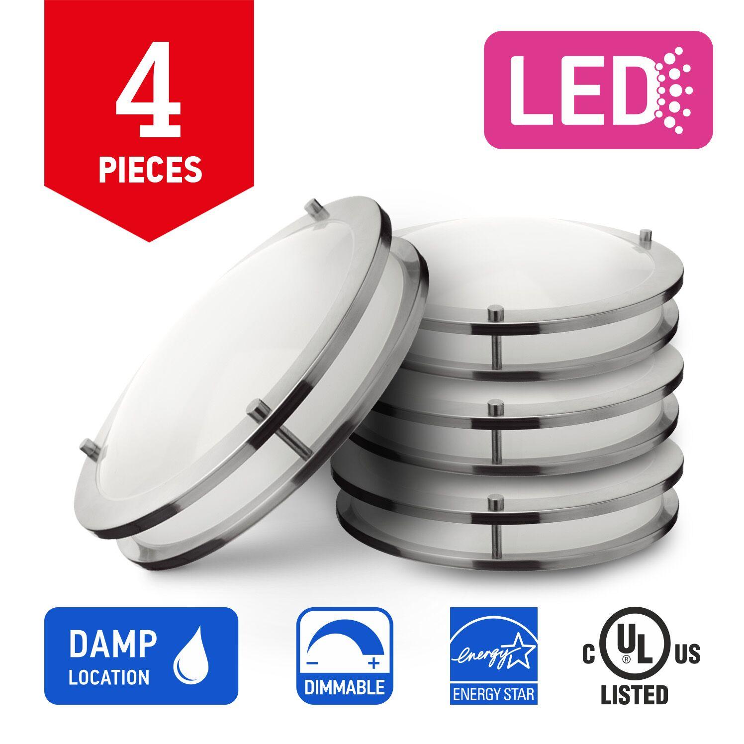 Beagley 1-Light LED Flush Mount Bulb Color Temperature: 4000K, Size: 3.5